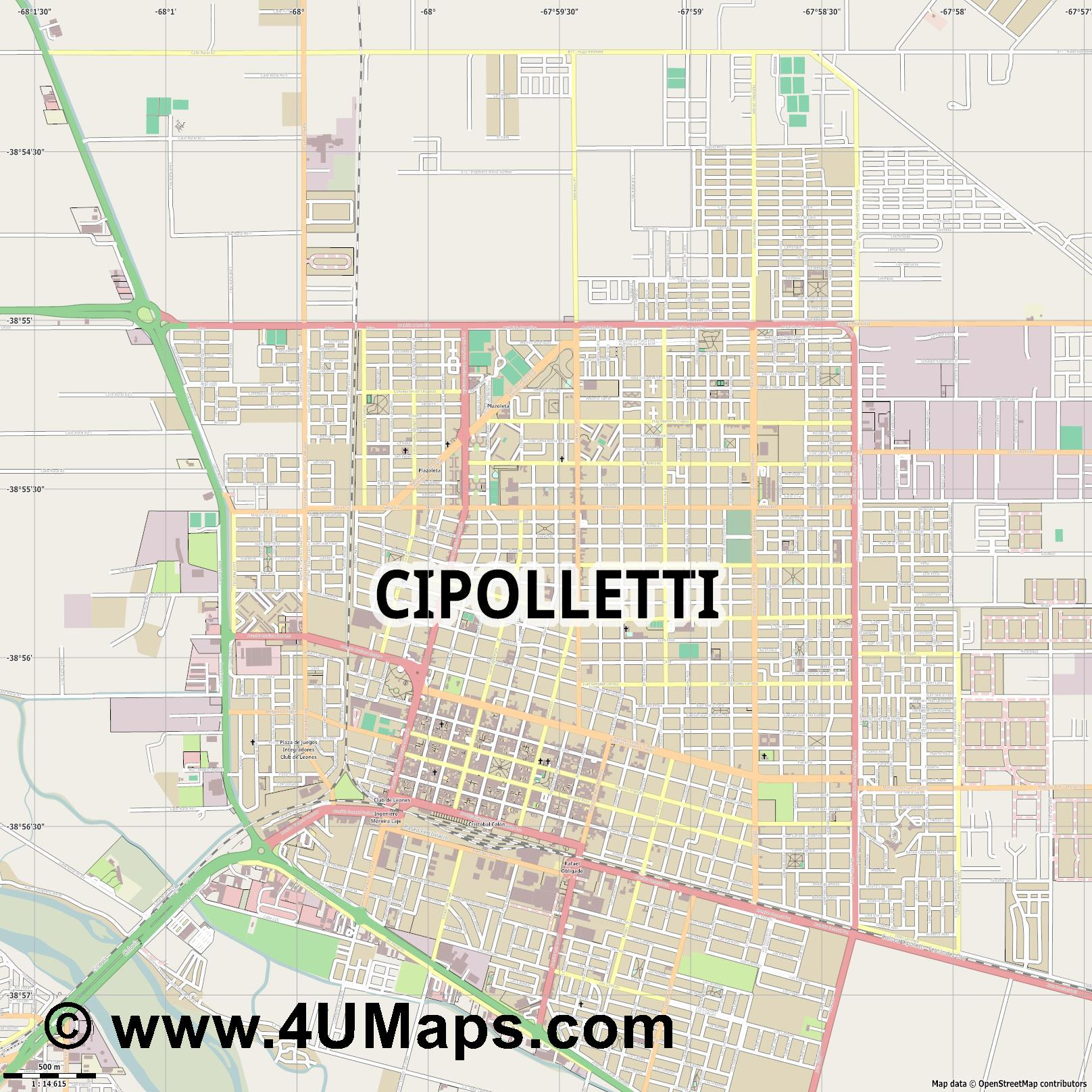 Cipolletti  jpg ultra high detail preview vector city map