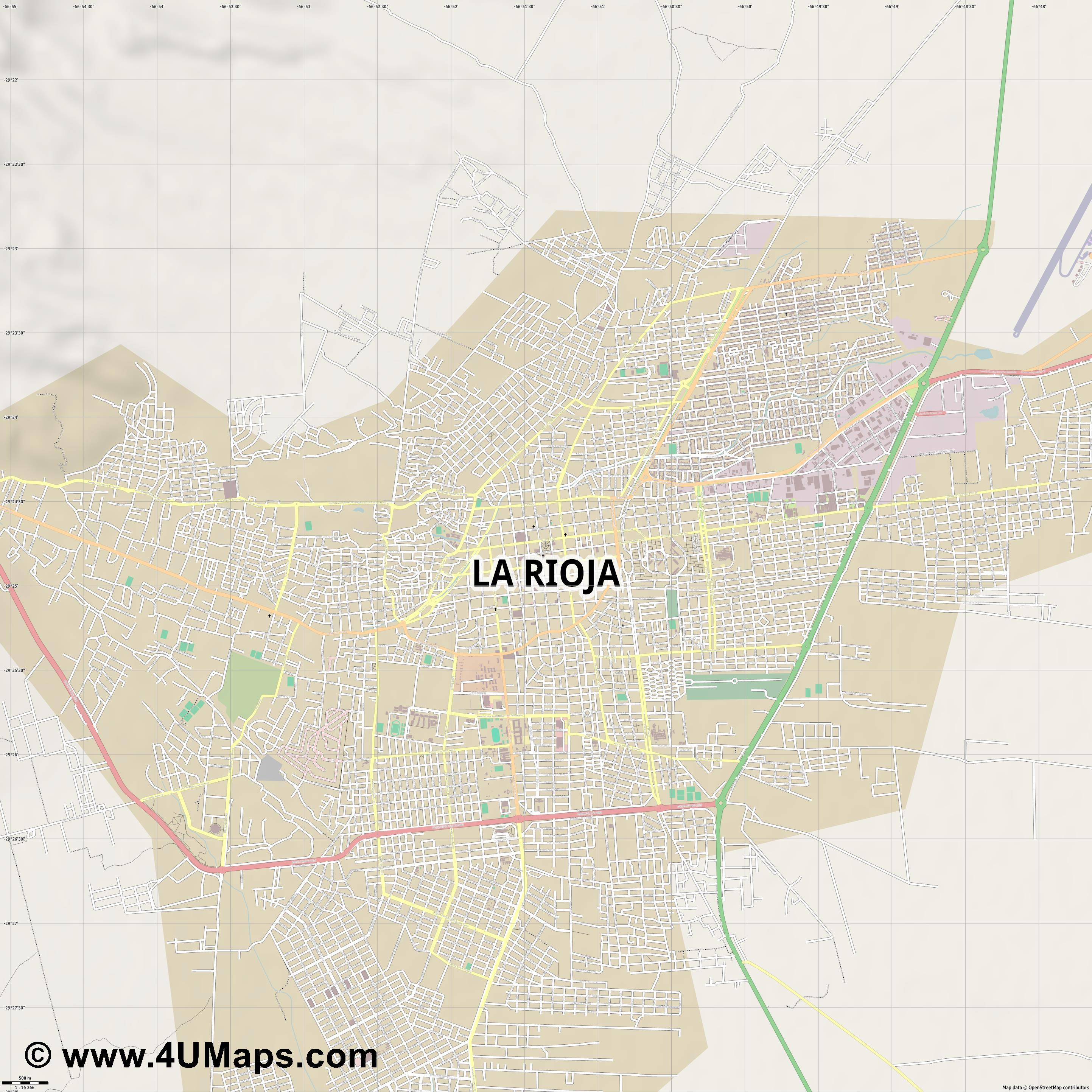 La Rioja  jpg ultra high detail preview vector city map