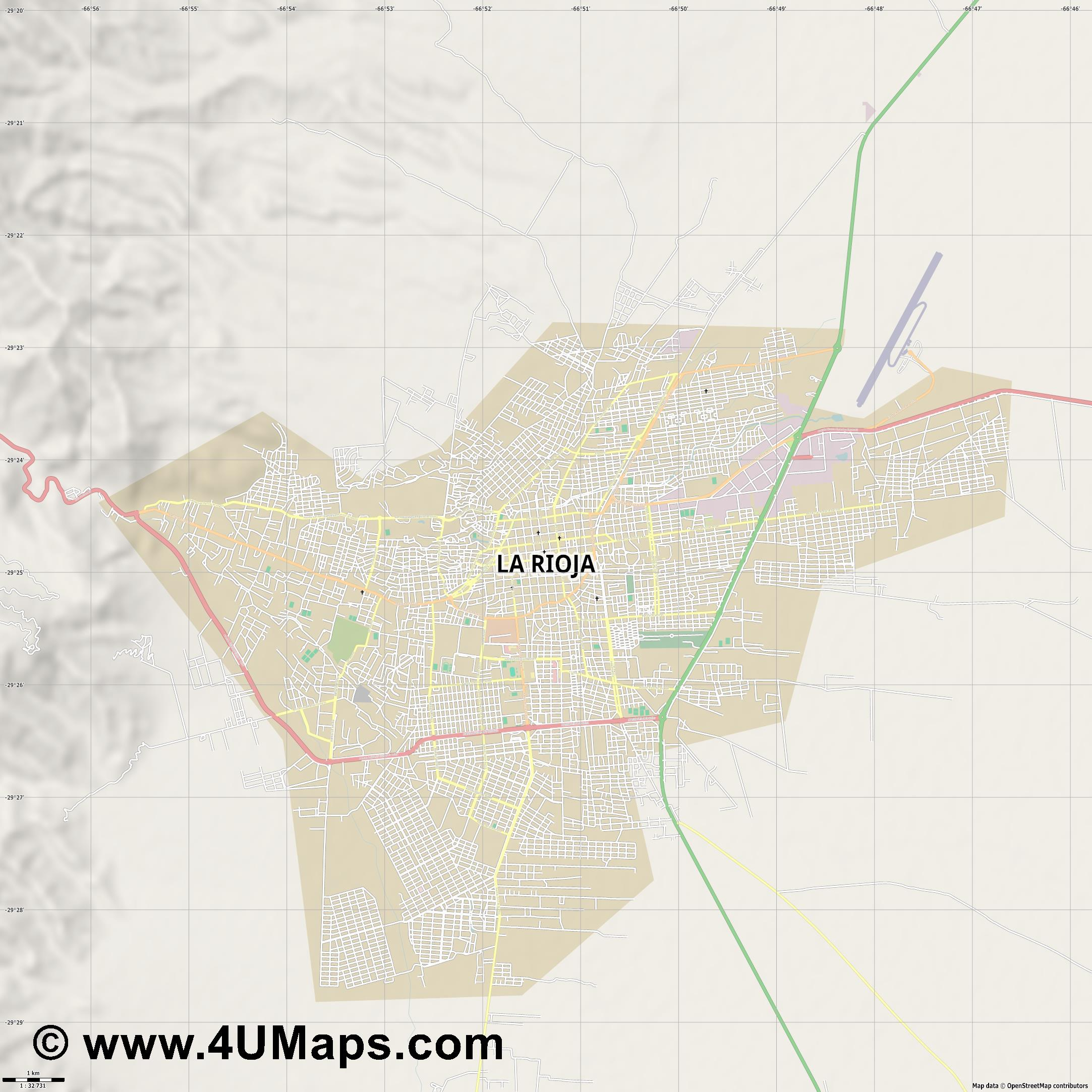 La Rioja  jpg high detail, large area preview vector city map