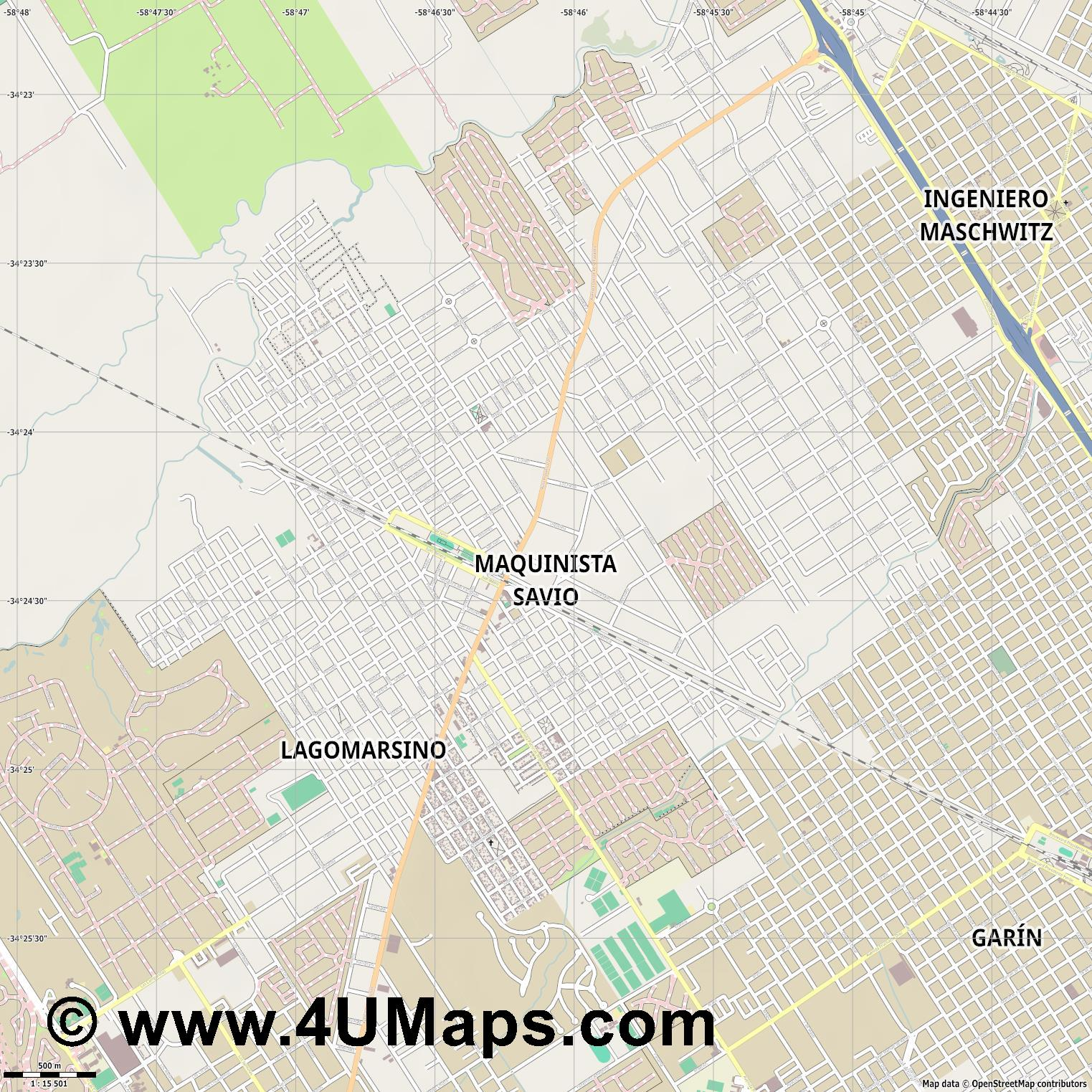 Maquinista Savio  jpg ultra high detail preview vector city map