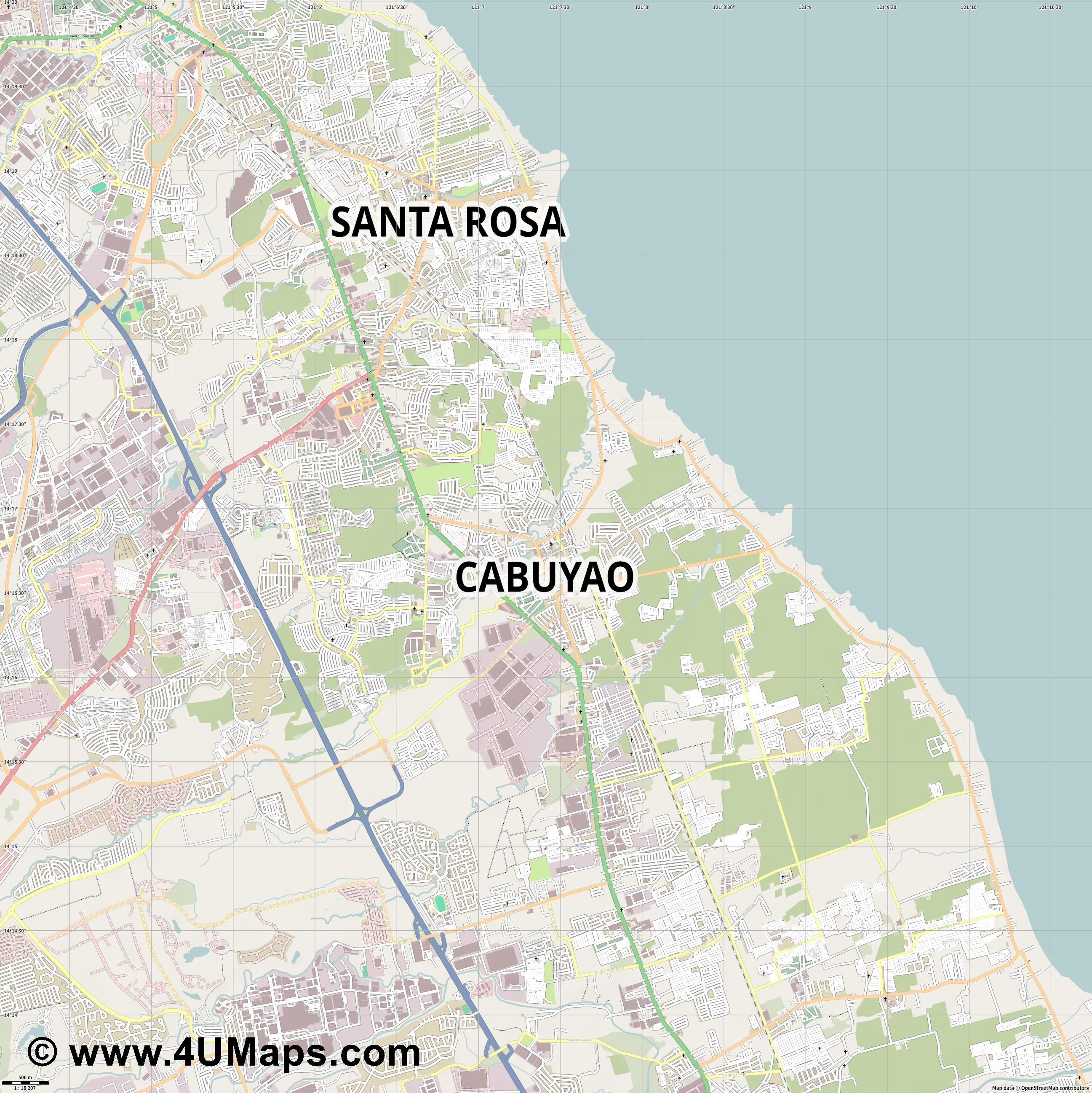 Cabuyao  jpg ultra high detail preview vector city map