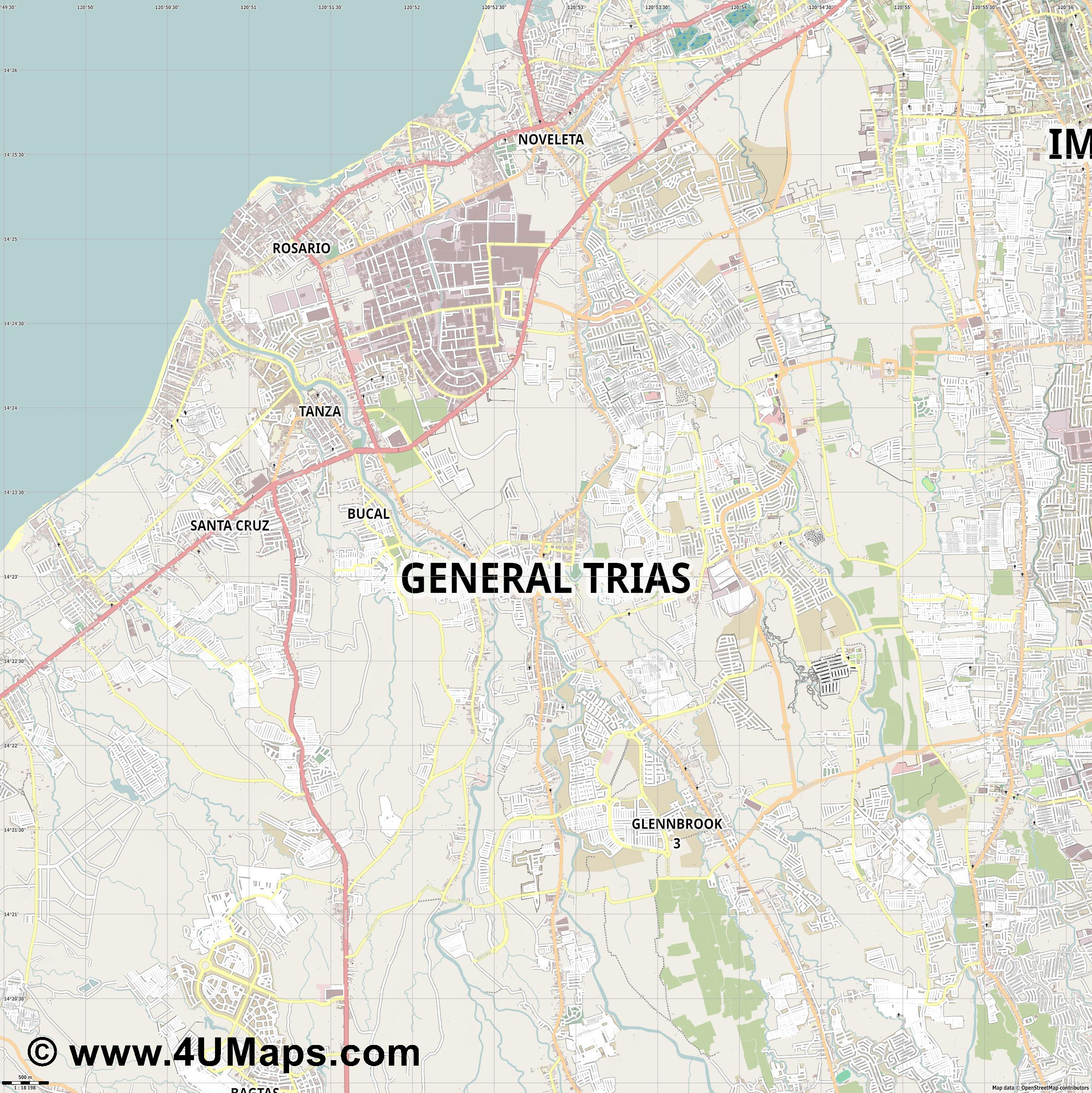 General Trias  jpg ultra high detail preview vector city map