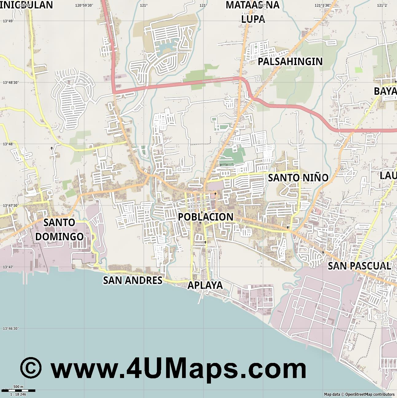 Bauan  jpg ultra high detail preview vector city map