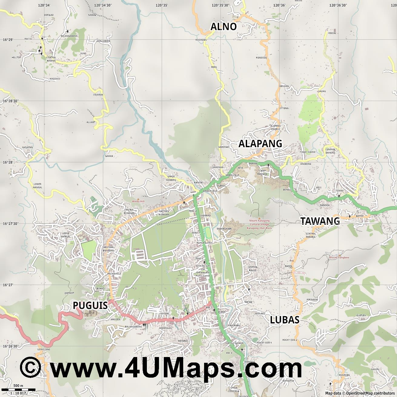 La Trinidad  jpg ultra high detail preview vector city map