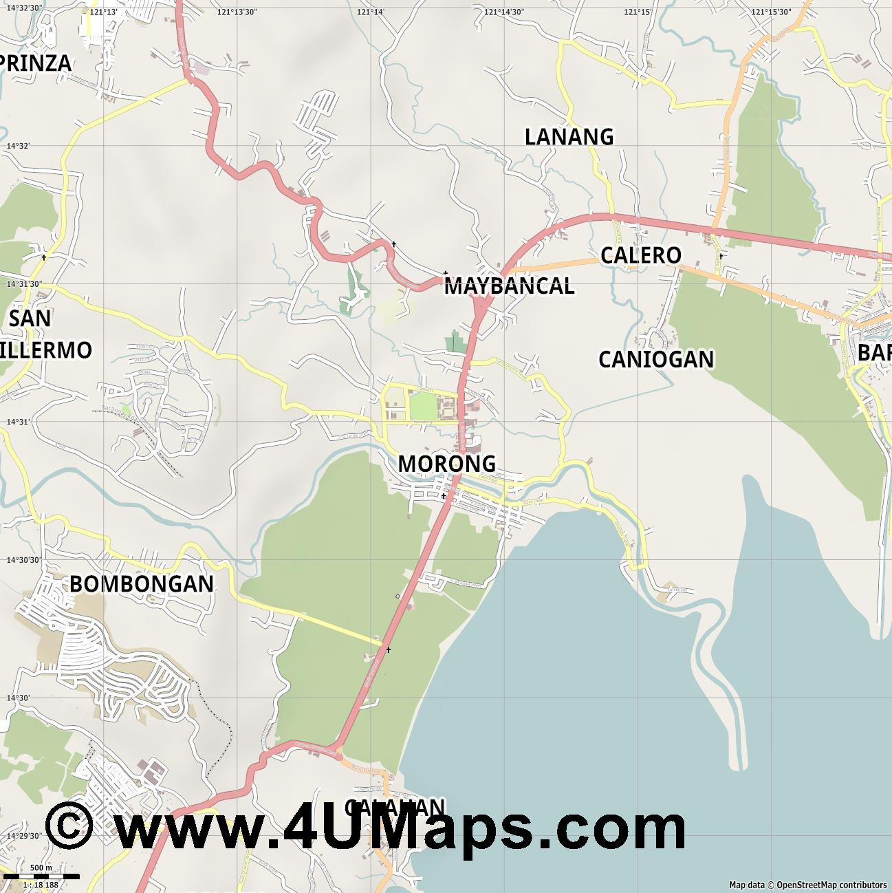 Morong  jpg ultra high detail preview vector city map