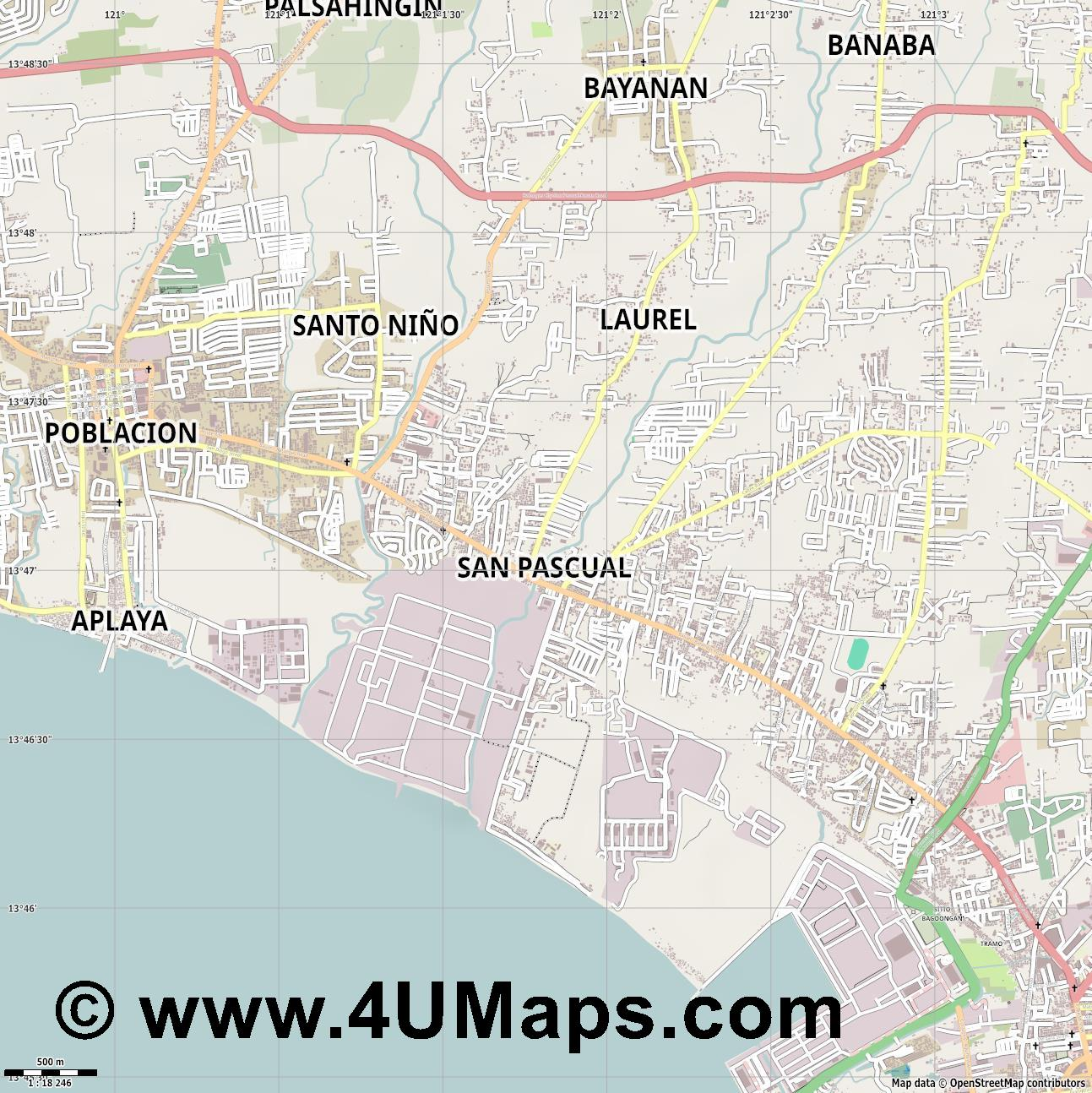 San Pascual  jpg ultra high detail preview vector city map