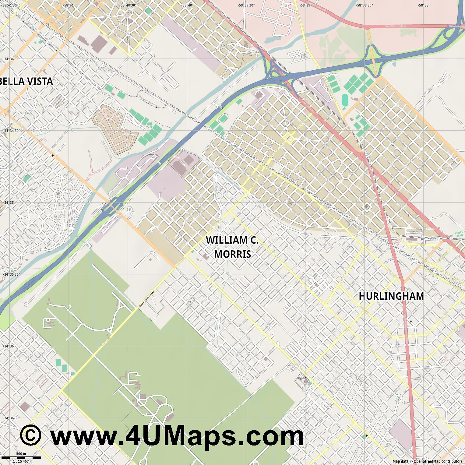 William C  Morris  jpg ultra high detail preview vector city map