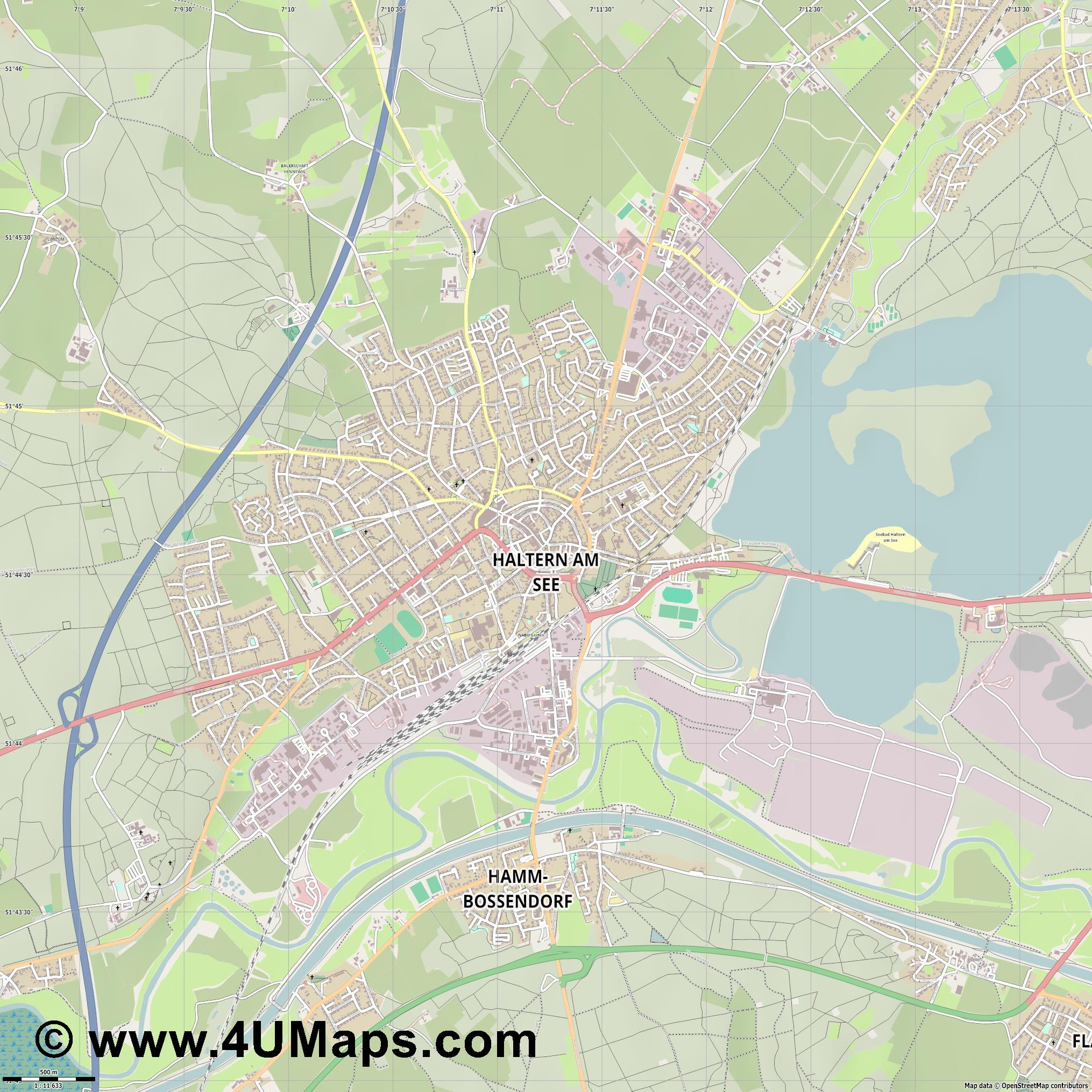 Haltern am See  jpg ultra high detail preview vector city map