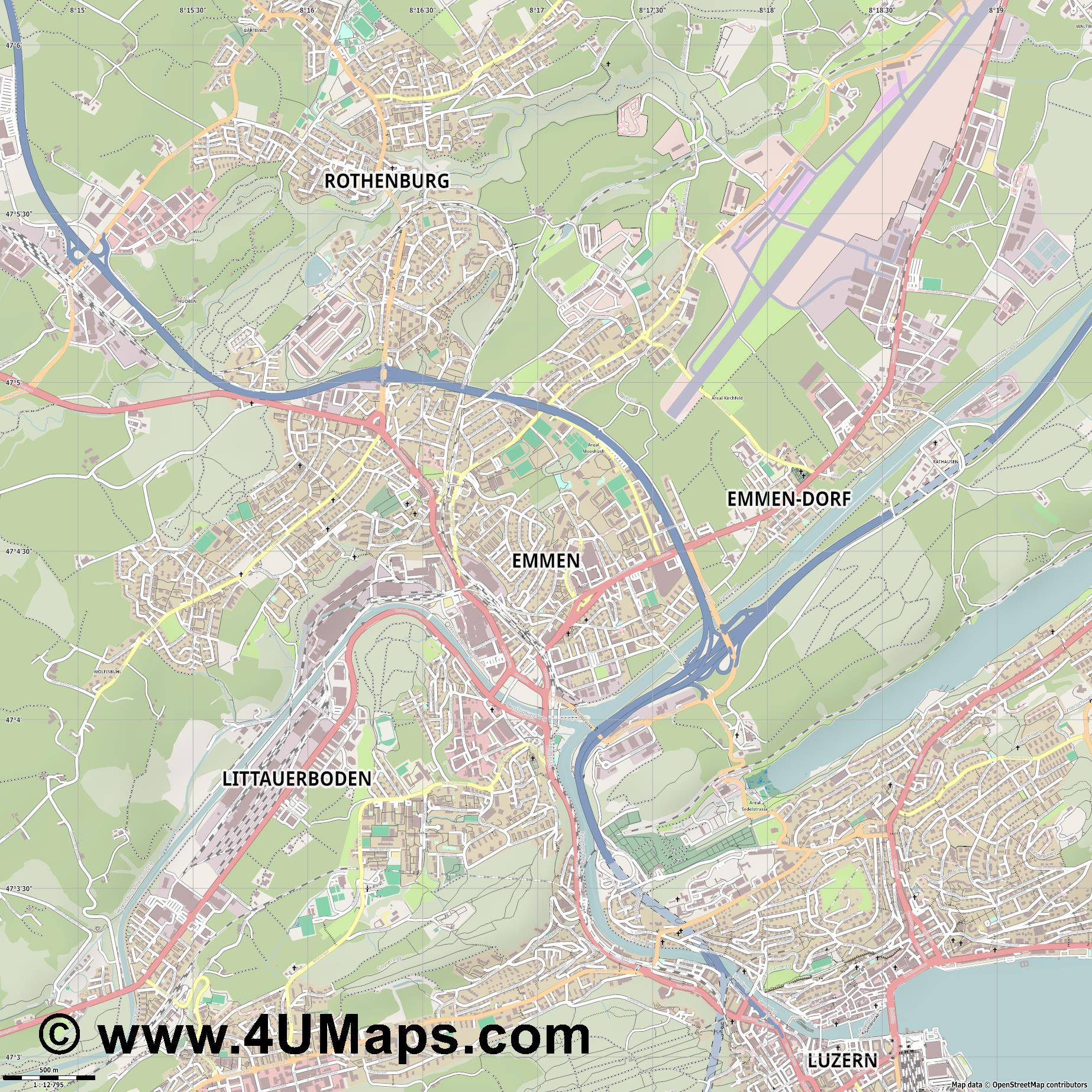 Emmen  jpg ultra high detail preview vector city map