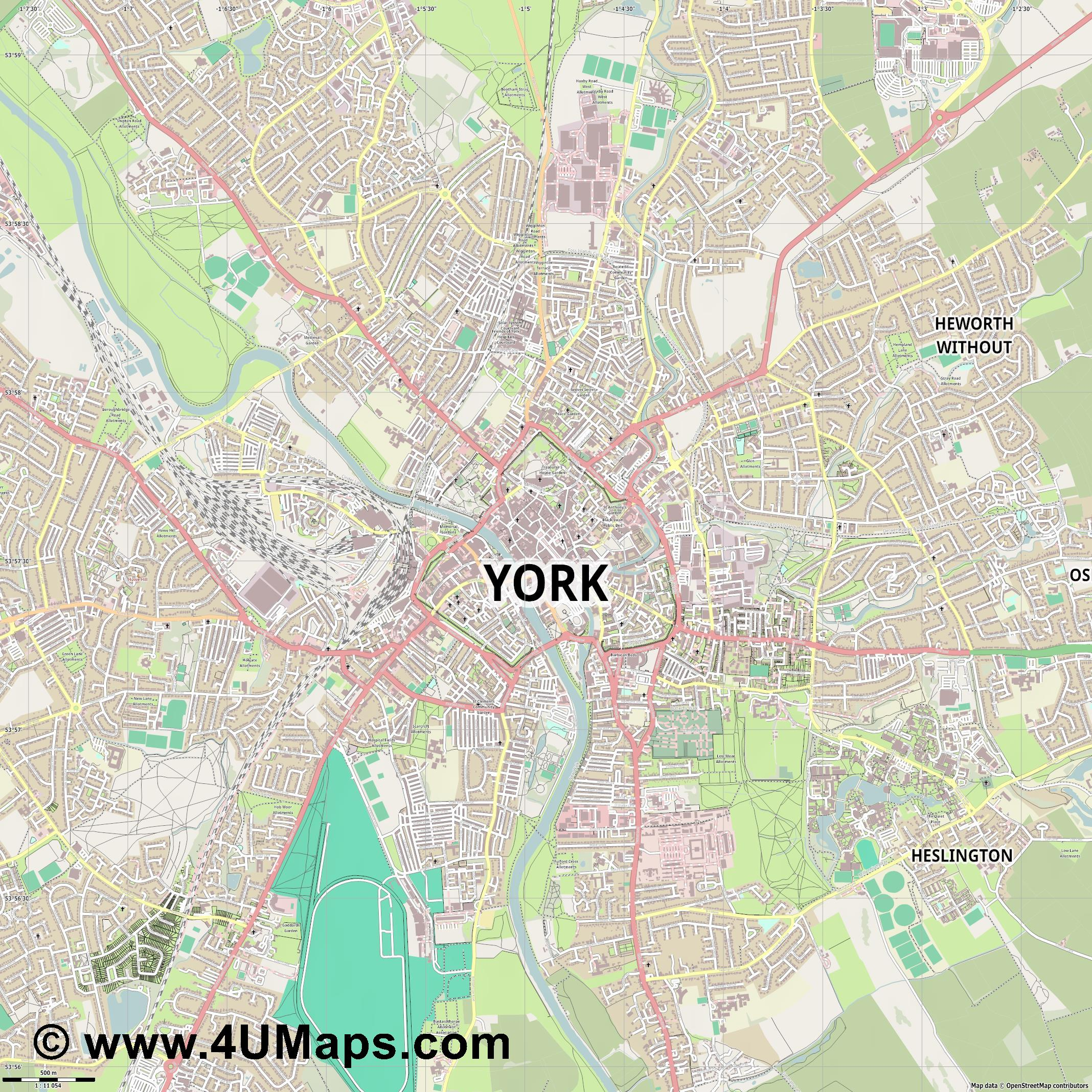 York  jpg ultra high detail preview vector city map