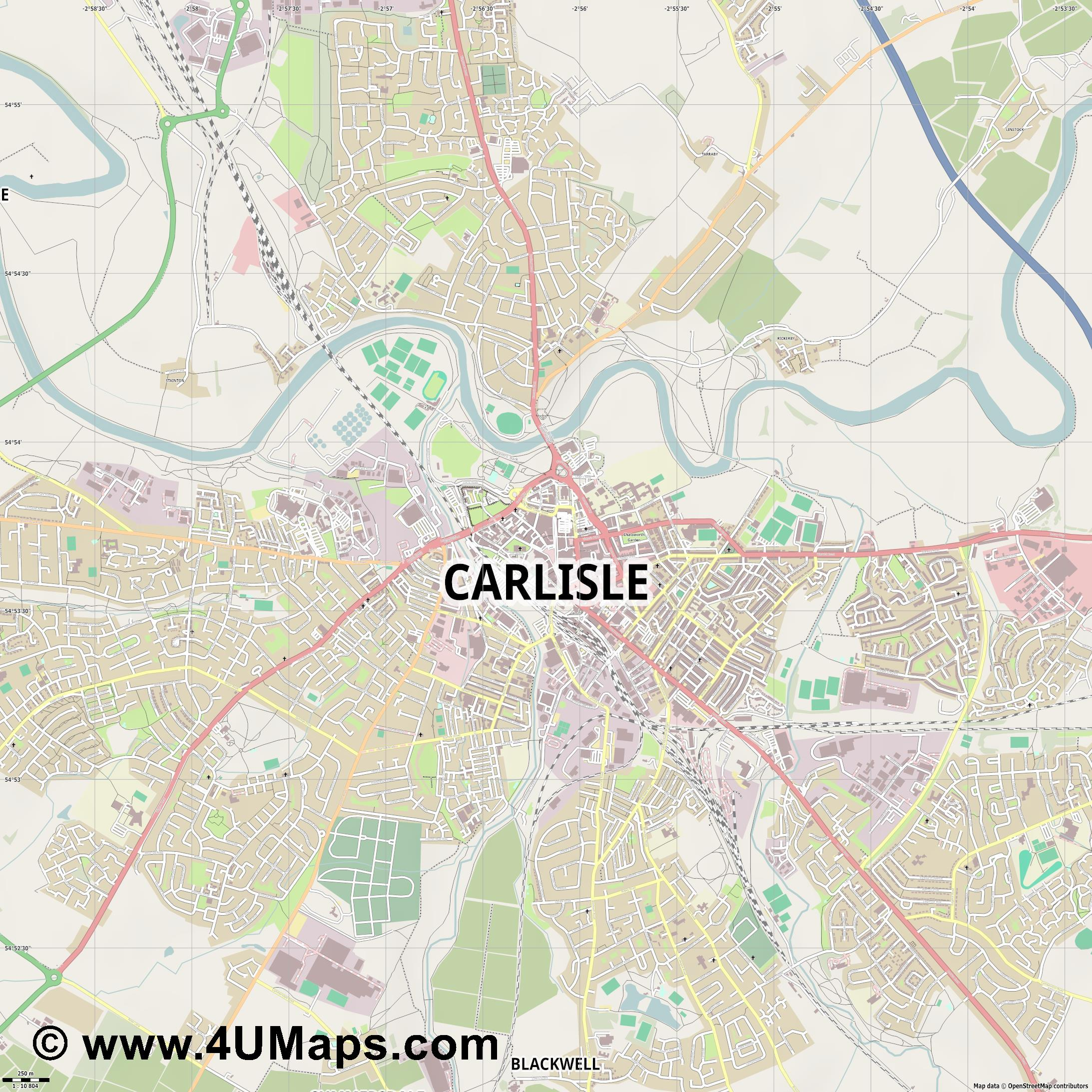 Carlisle  jpg ultra high detail preview vector city map