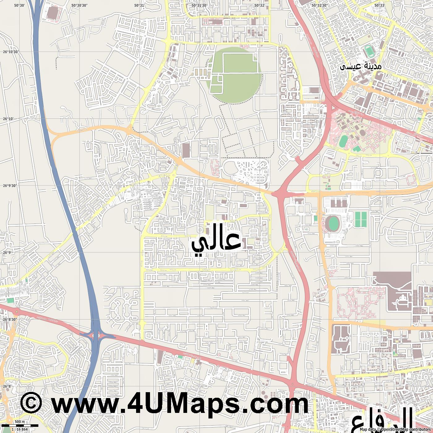 عالي A ali  jpg ultra high detail preview vector city map