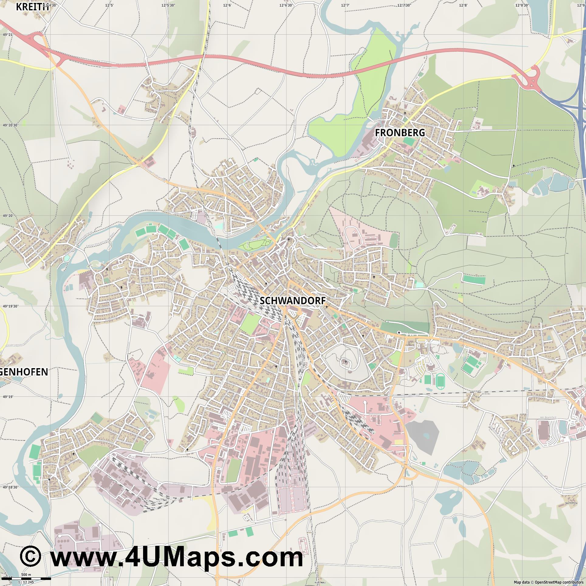 Stadtplan Schwandorf