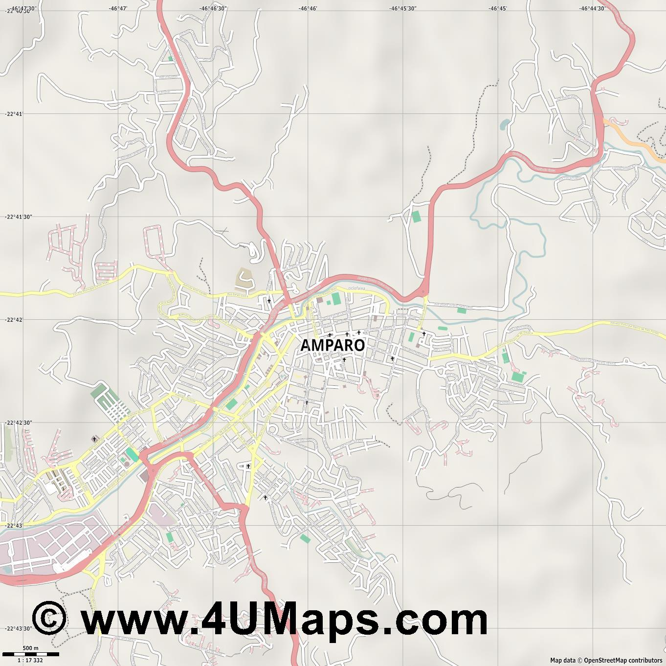 Amparo  jpg ultra high detail preview vector city map