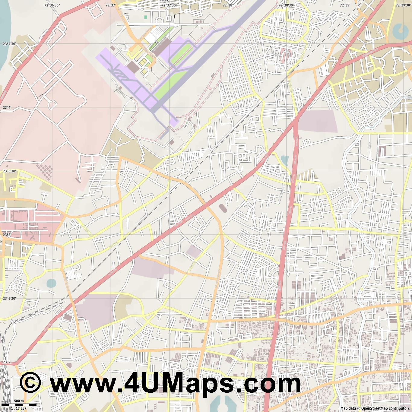 Sahijpur  jpg ultra high detail preview vector city map