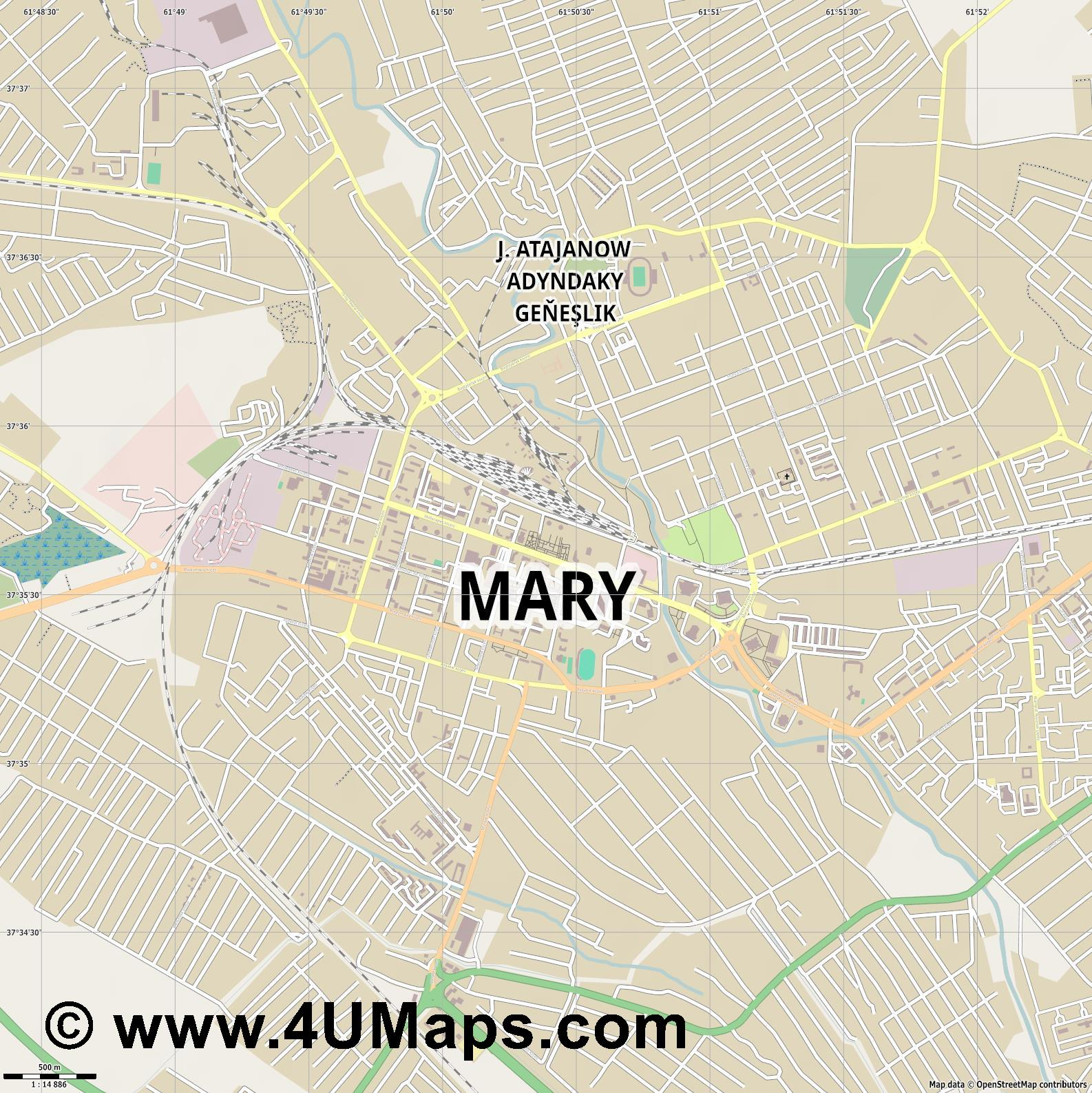 Mary Merv  jpg ultra high detail preview vector city map