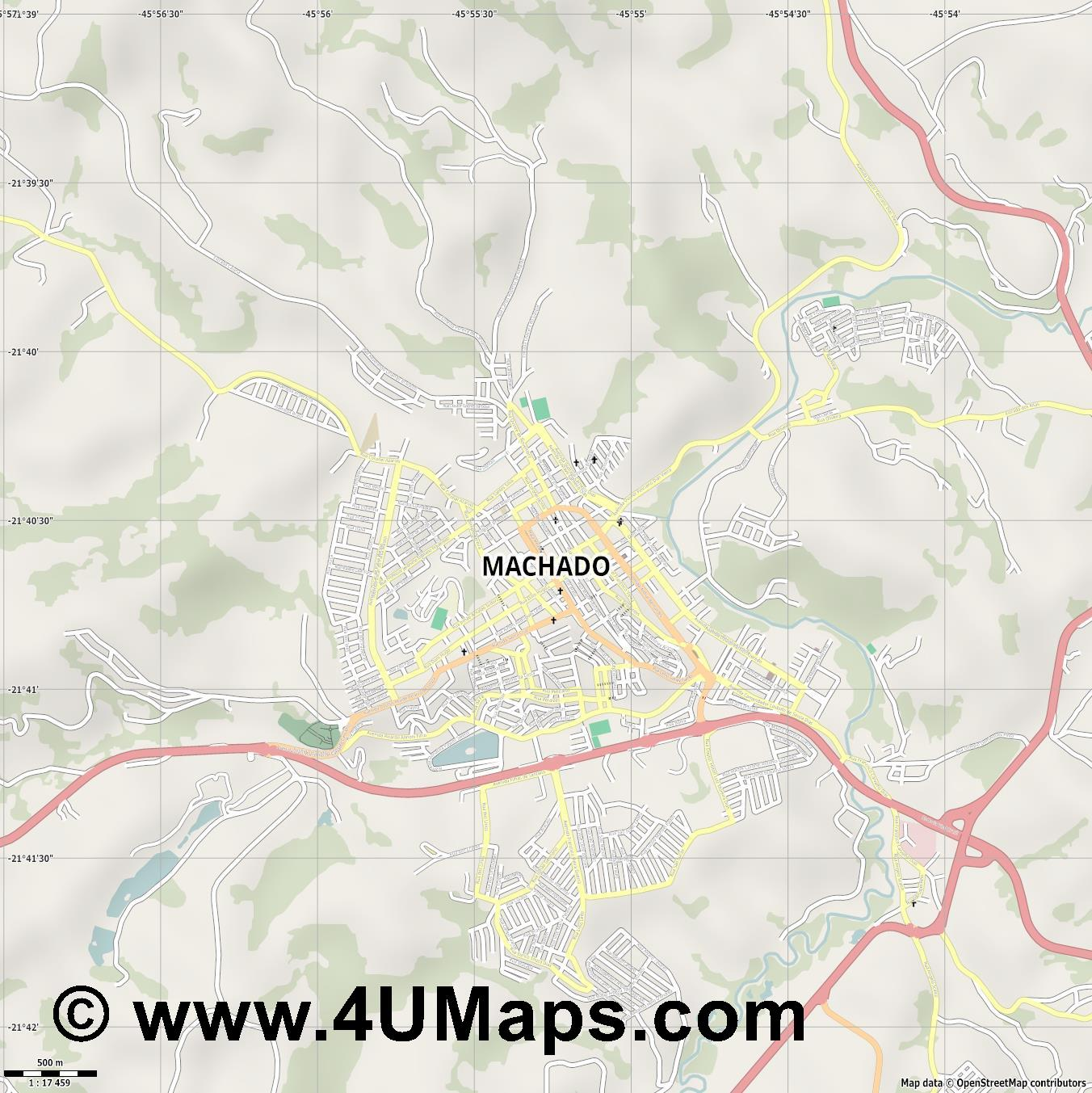 Machado  jpg ultra high detail preview vector city map