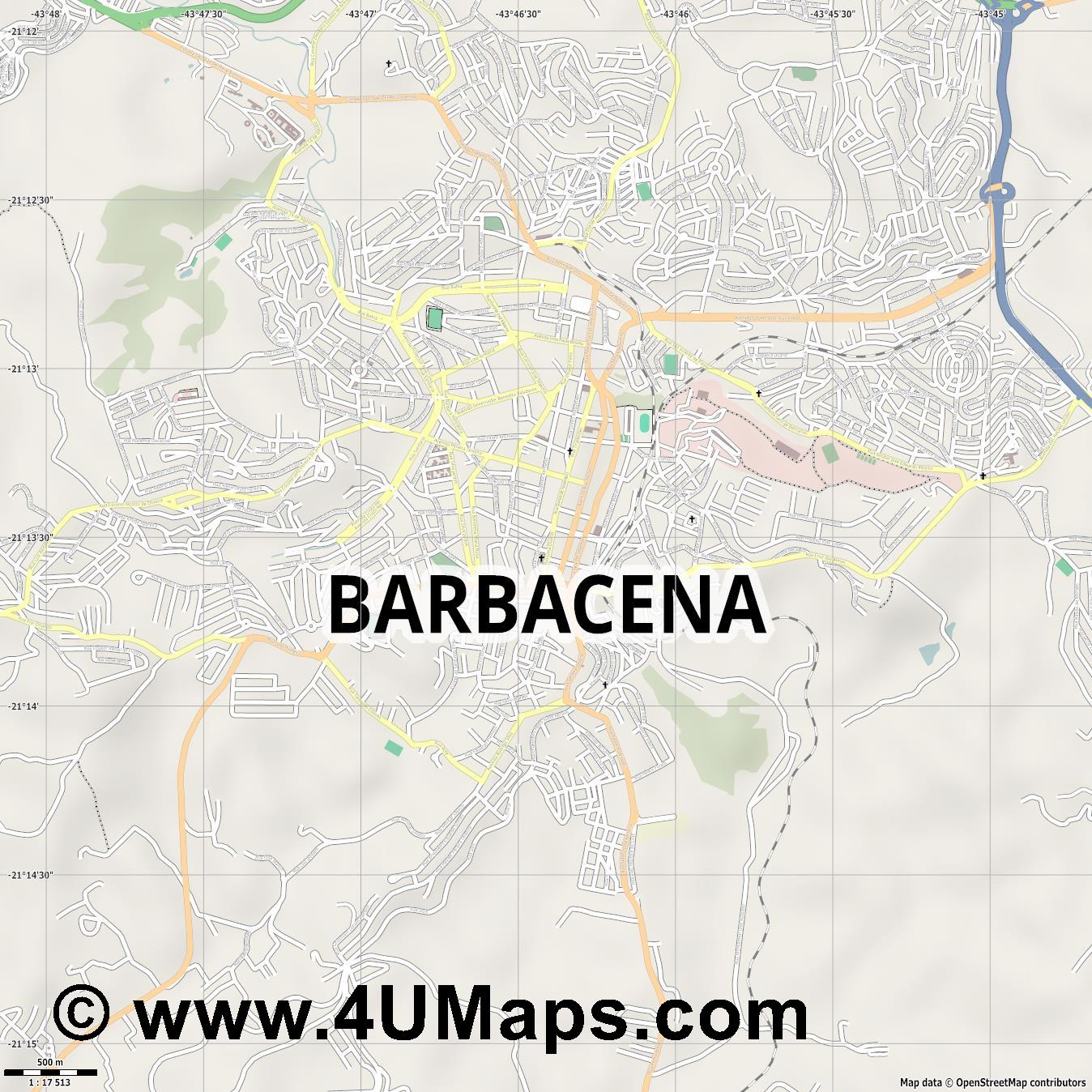 Barbacena  jpg ultra high detail preview vector city map