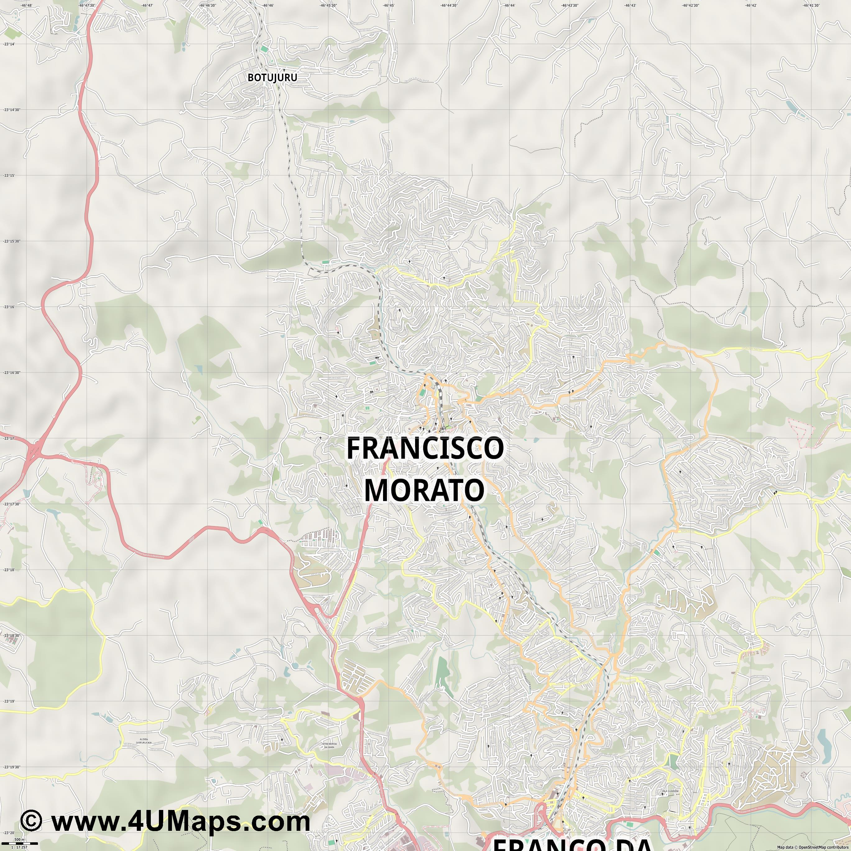 Francisco Morato  jpg ultra high detail preview vector city map