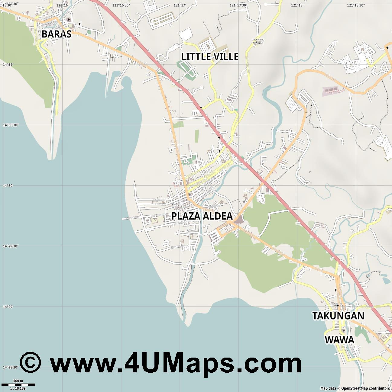 Tanay  jpg ultra high detail preview vector city map
