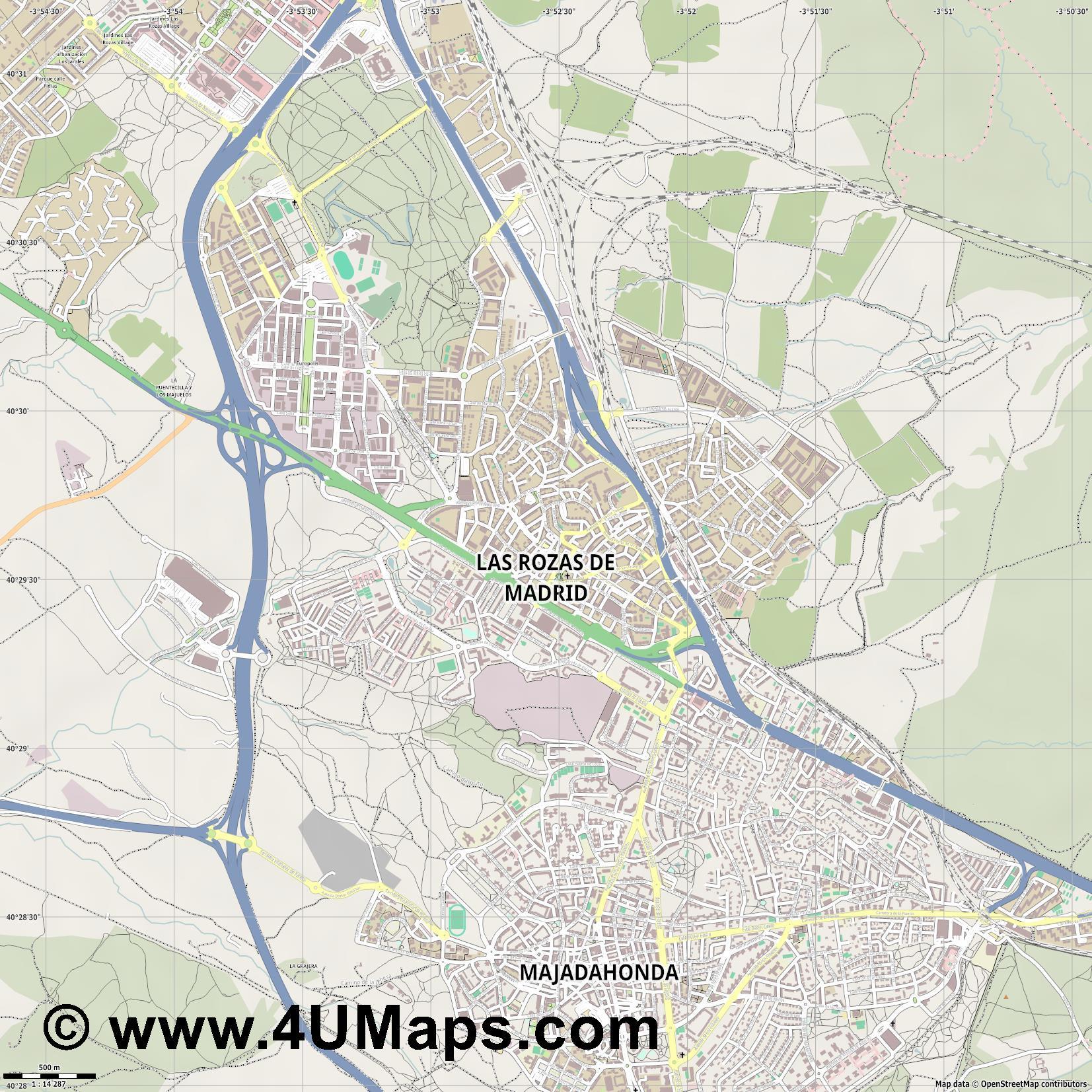 Las Rozas Madrid Mapa.Pdf Svg Mapa Vectorial Escalable Mapa Vectorial Las Rozas