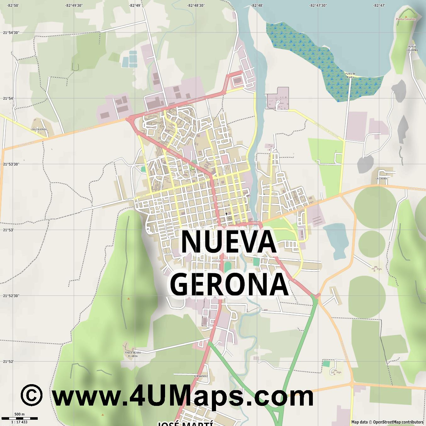 Nueva Gerona  jpg ultra high detail preview vector city map