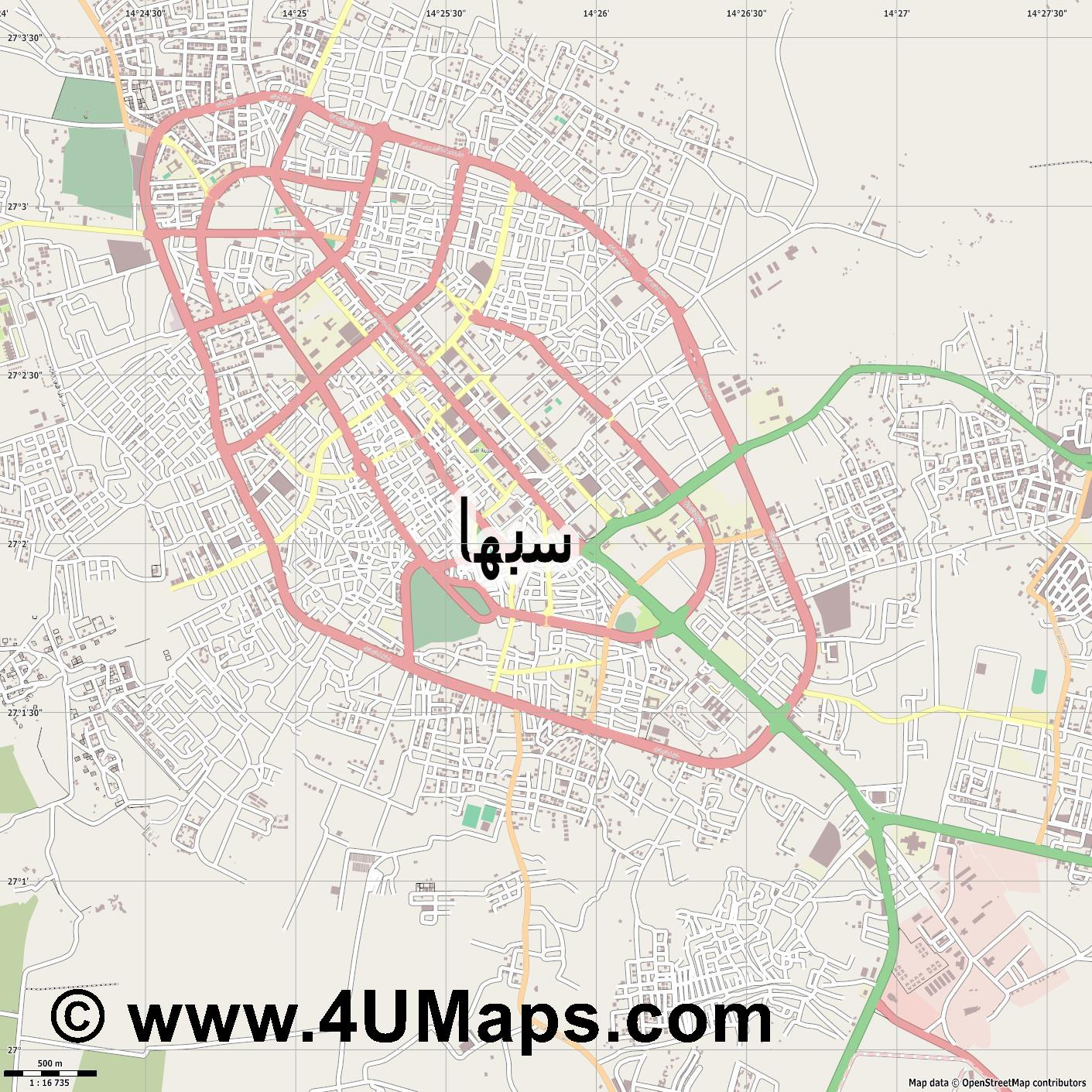 Sabha سبها  Sebha  jpg ultra high detail preview vector city map