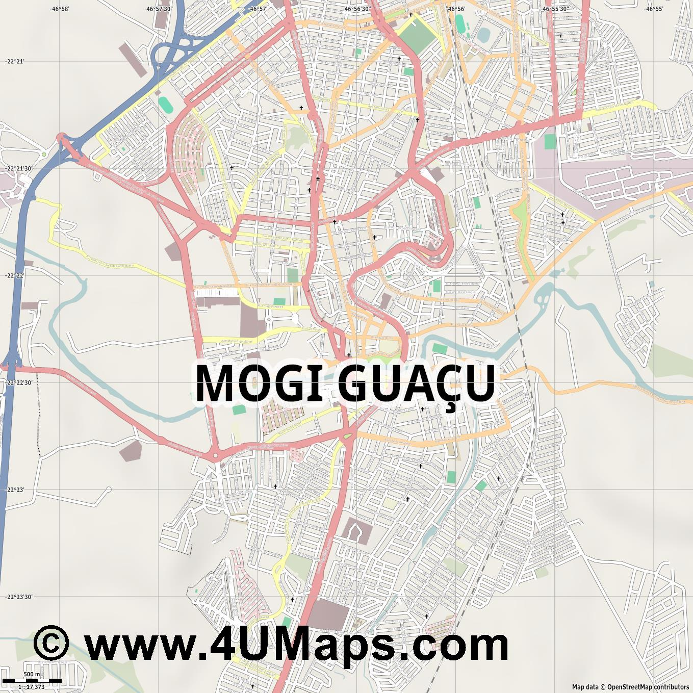 Mogi Guaçu  jpg ultra high detail preview vector city map
