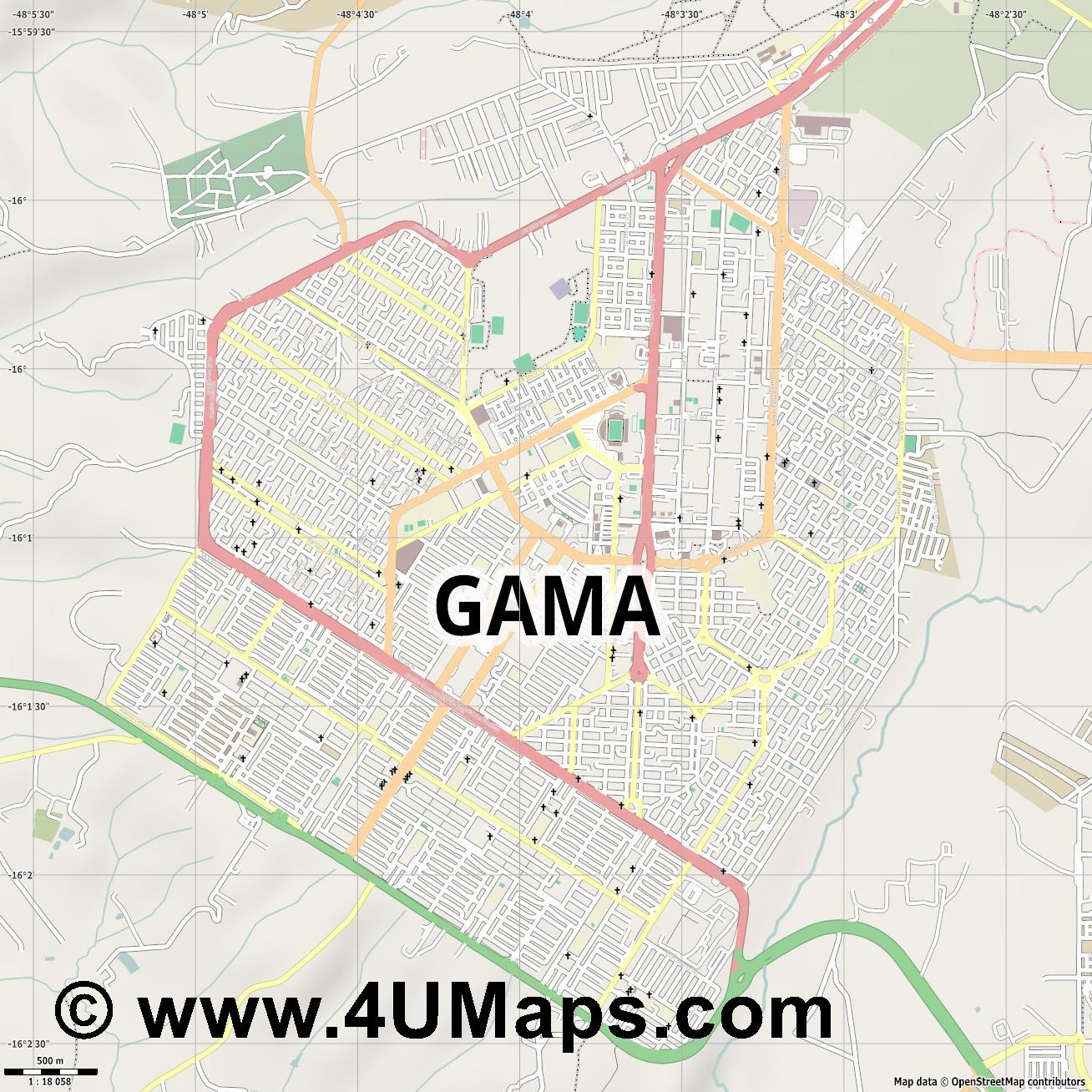 Gama  jpg ultra high detail preview vector city map