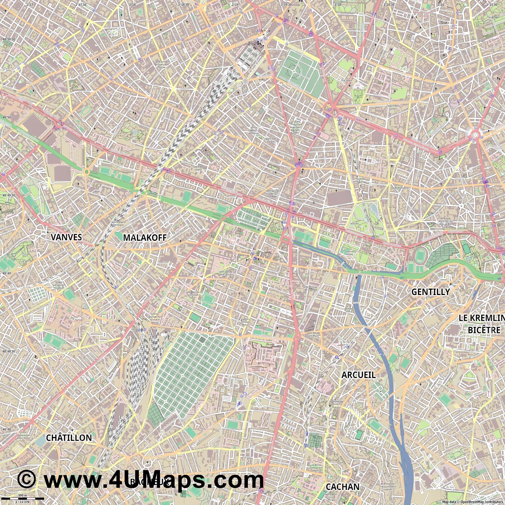 Montrouge  jpg ultra high detail preview vector city map