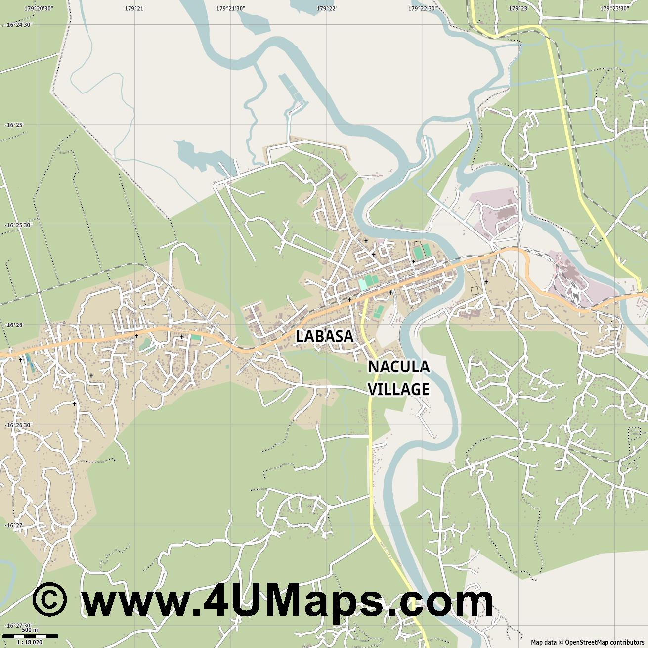 Labasa  jpg ultra high detail preview vector city map