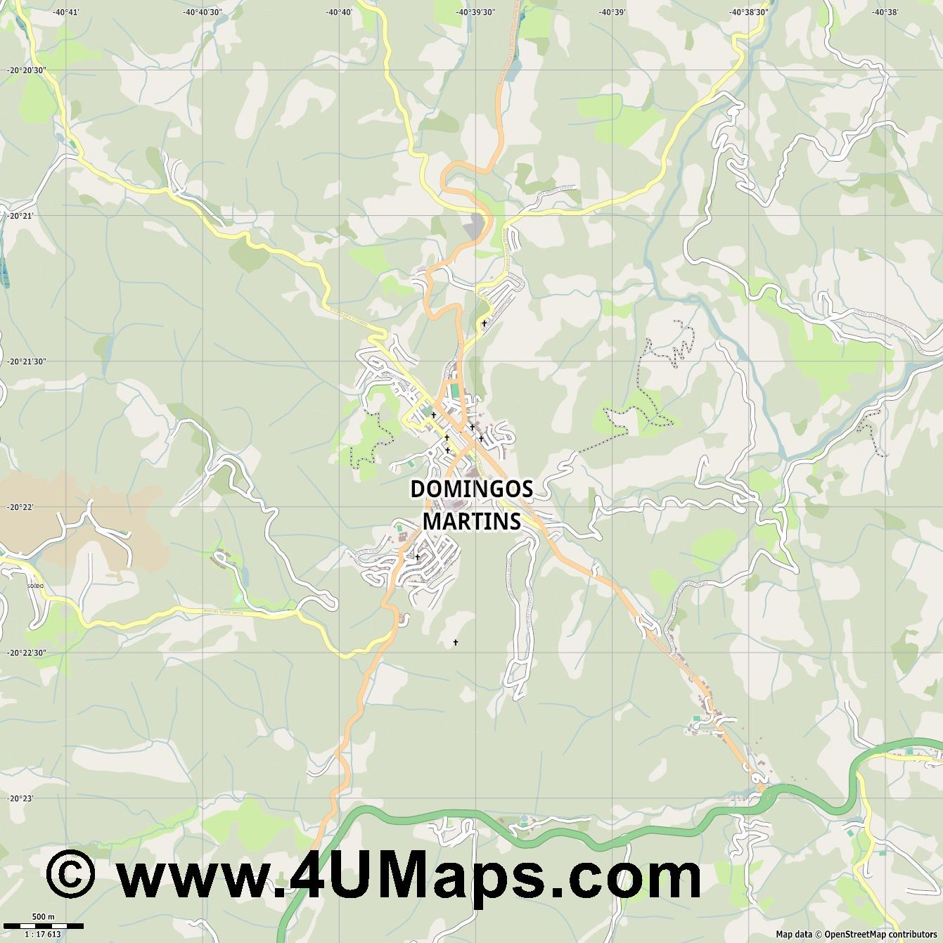 Domingos Martins  jpg ultra high detail preview vector city map