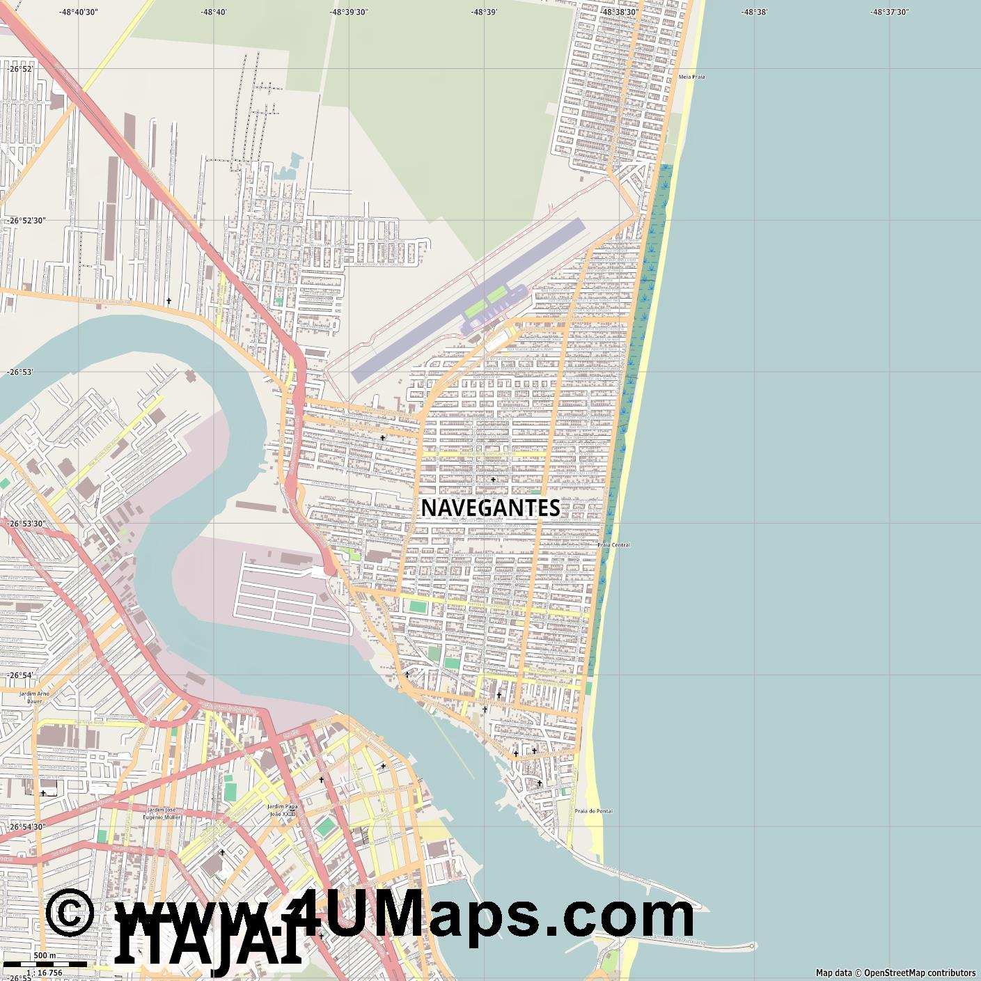 Navegantes  jpg ultra high detail preview vector city map