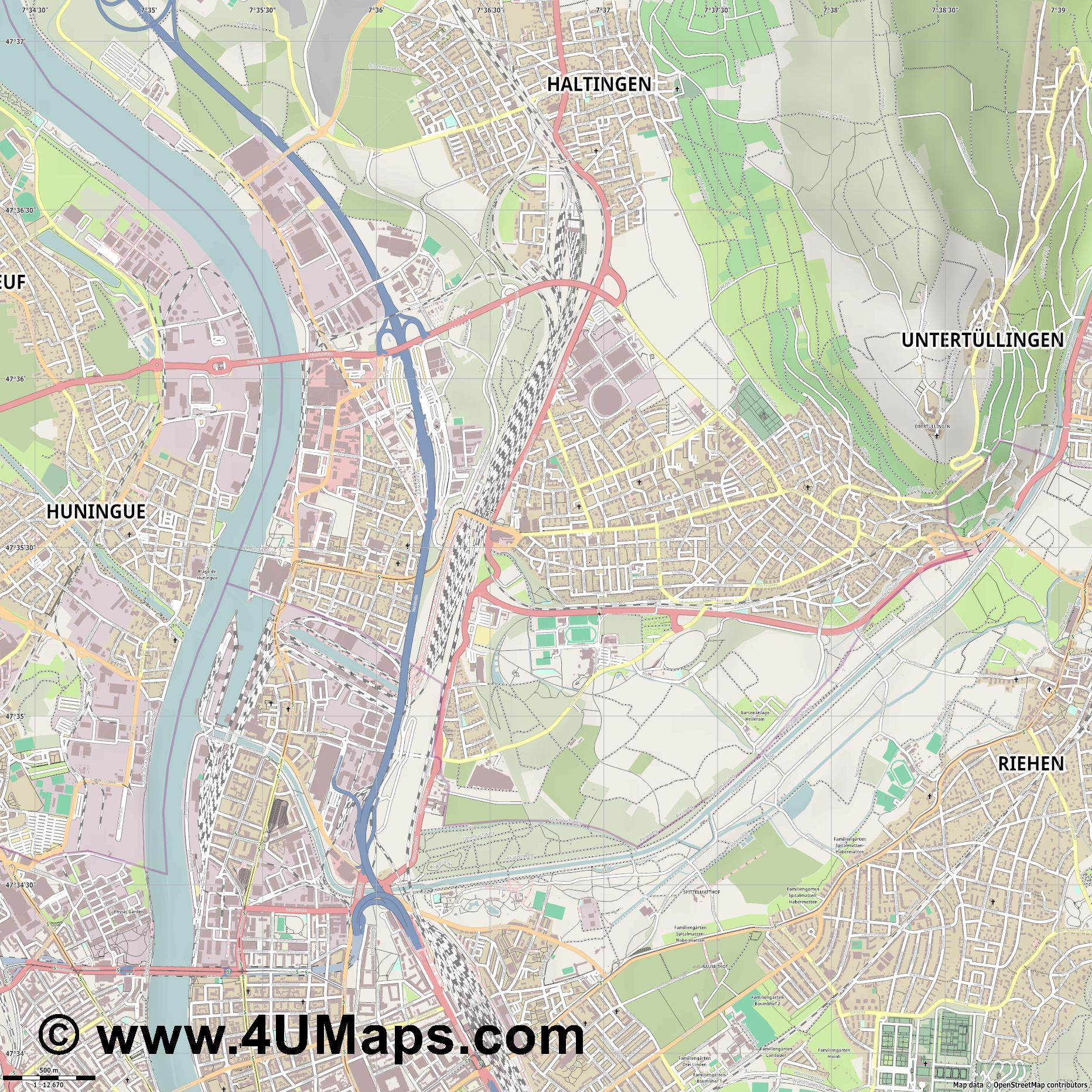 Weil am Rhein  jpg ultra high detail preview vector city map