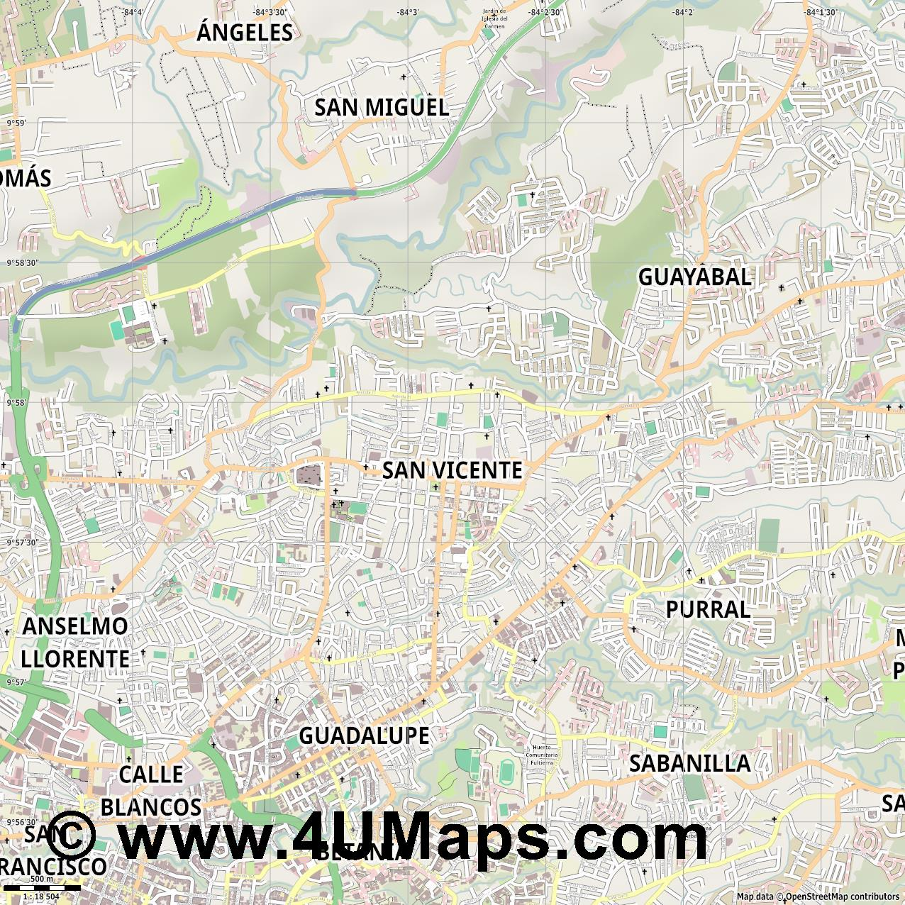 San Vicente  jpg ultra high detail preview vector city map