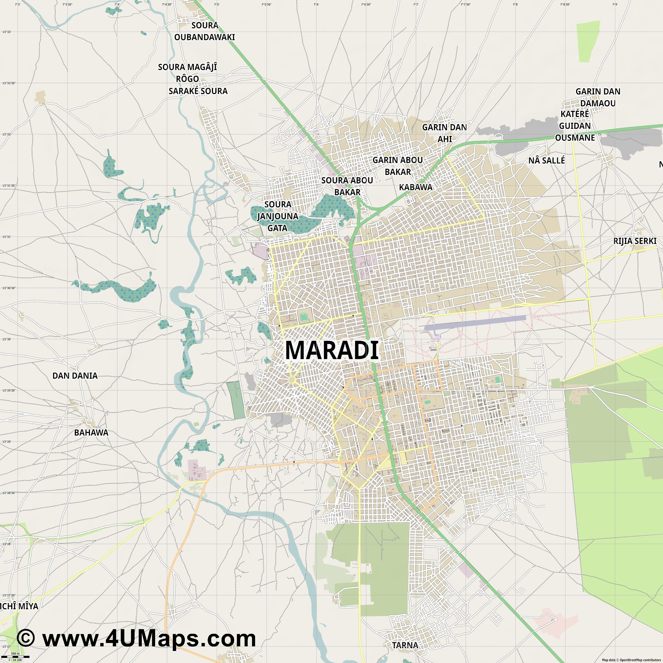 Maradi  jpg ultra high detail preview vector city map