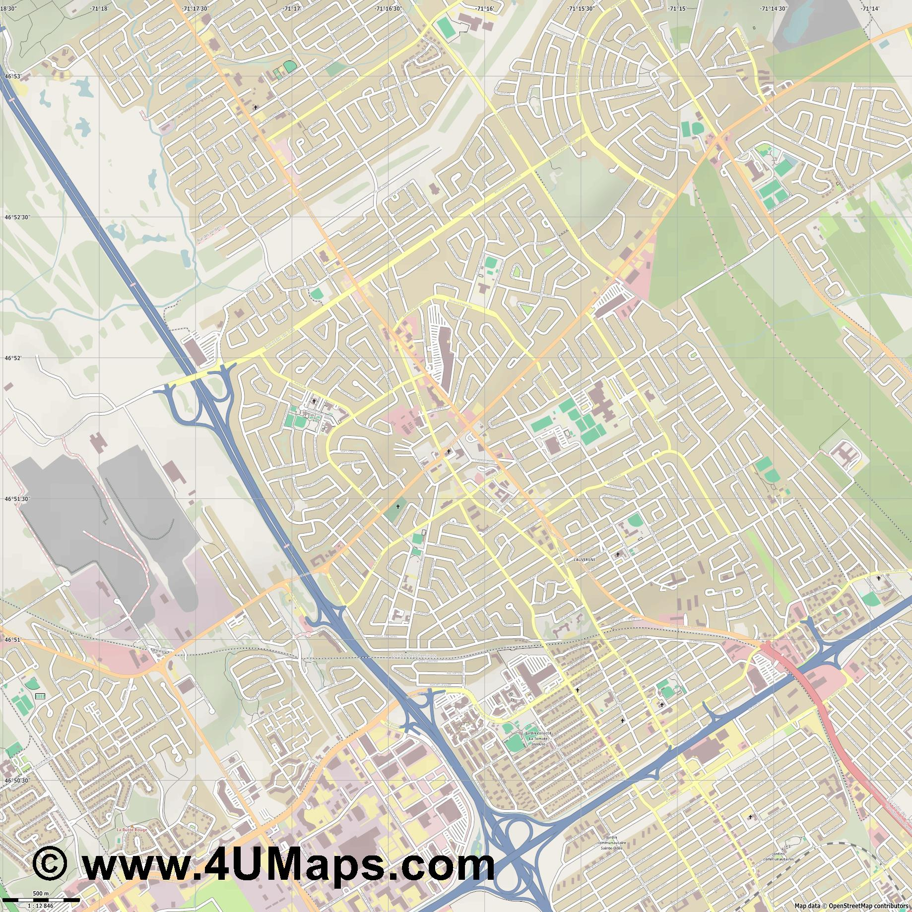 Charlesbourg  jpg ultra high detail preview vector city map