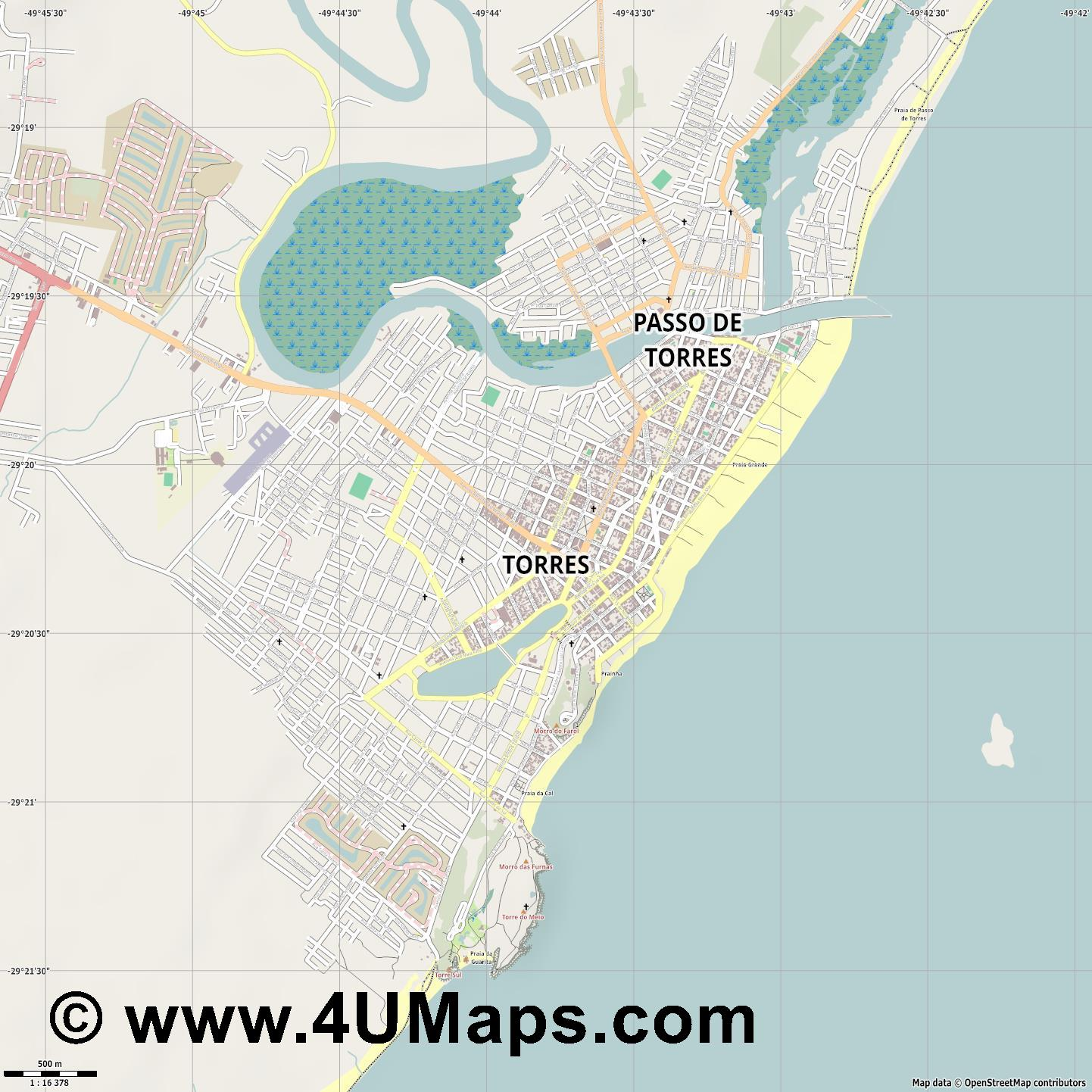 Torres  jpg ultra high detail preview vector city map