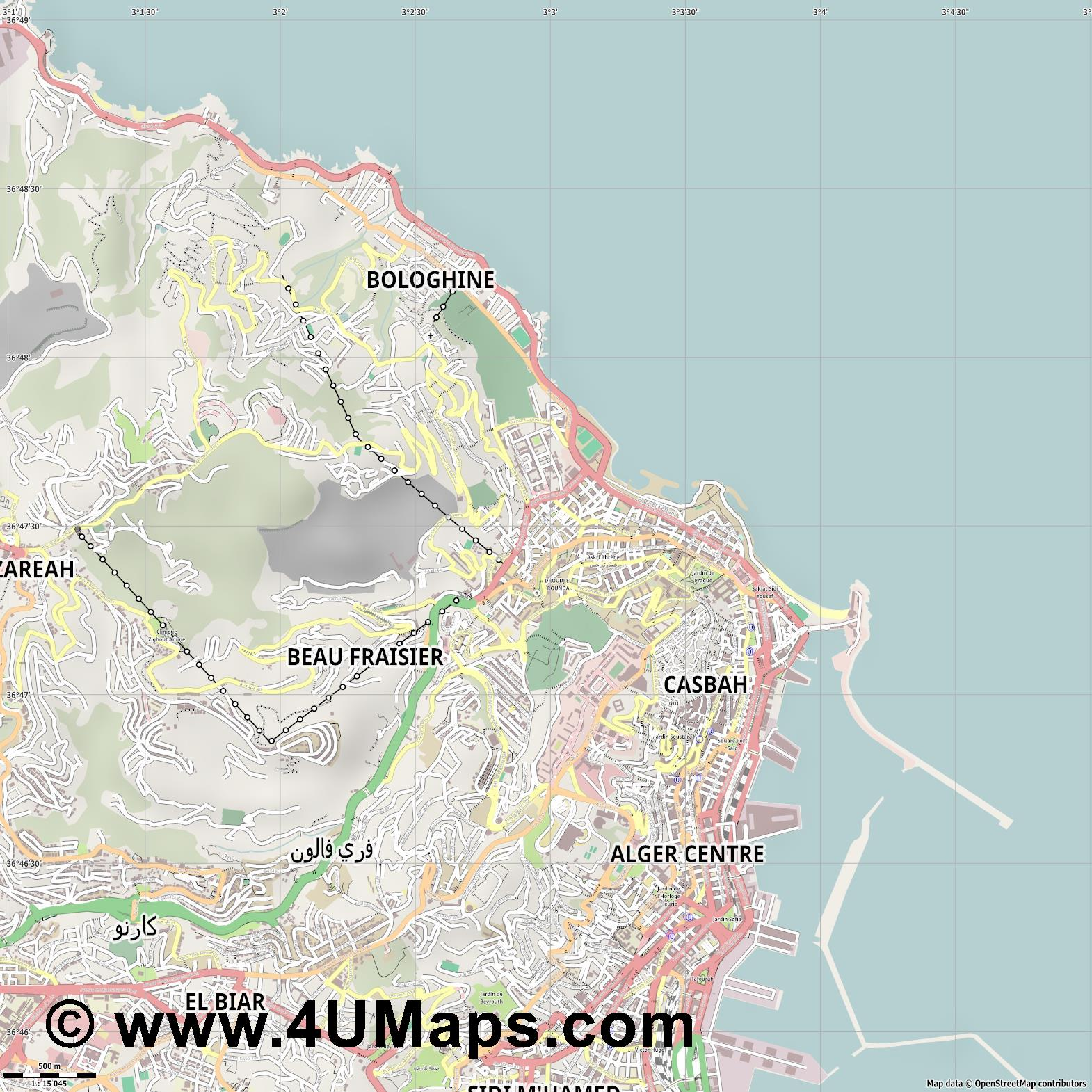 Bab El Oued  jpg ultra high detail preview vector city map