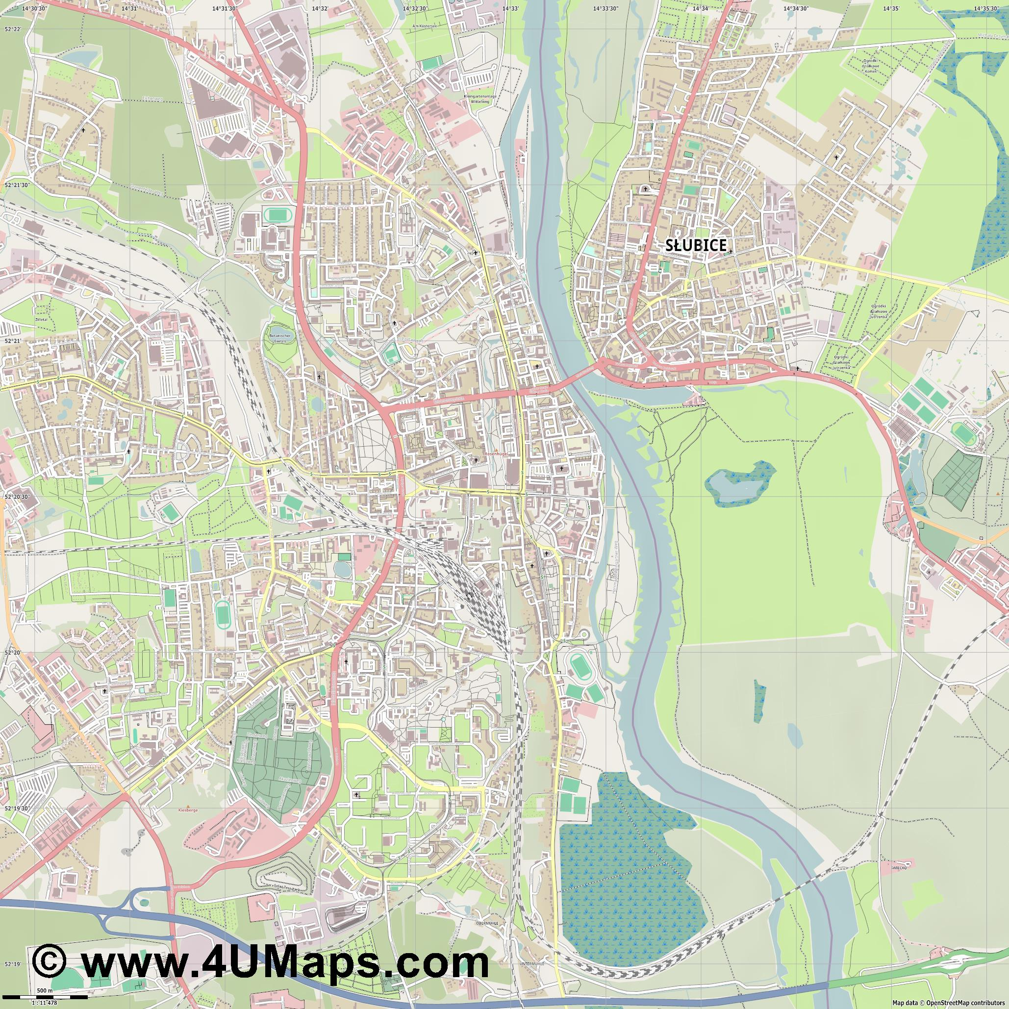 Frankfurt  Oder   jpg ultra high detail preview vector city map