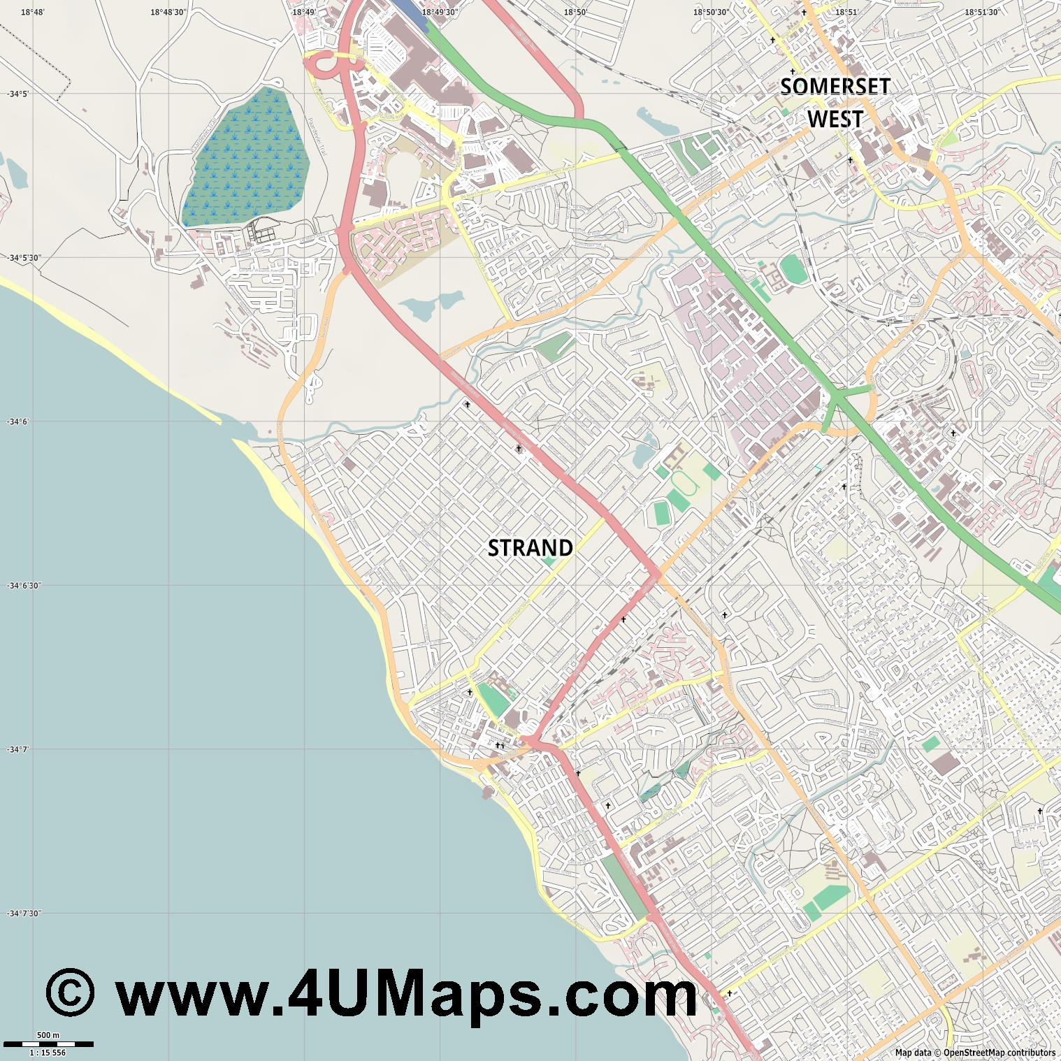 Strand  jpg ultra high detail preview vector city map