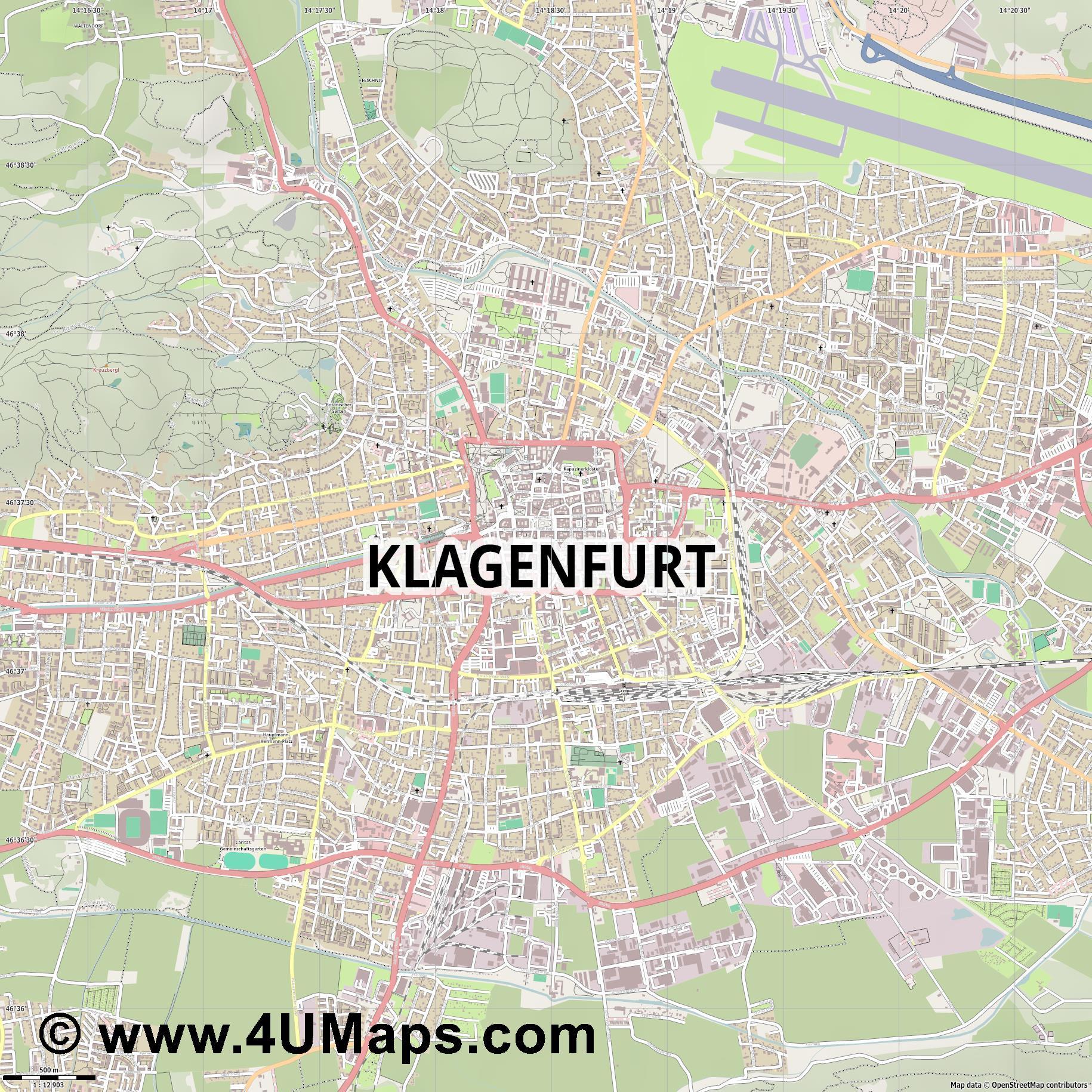 Karte Stadtplan Salzburg - ViaMichelin