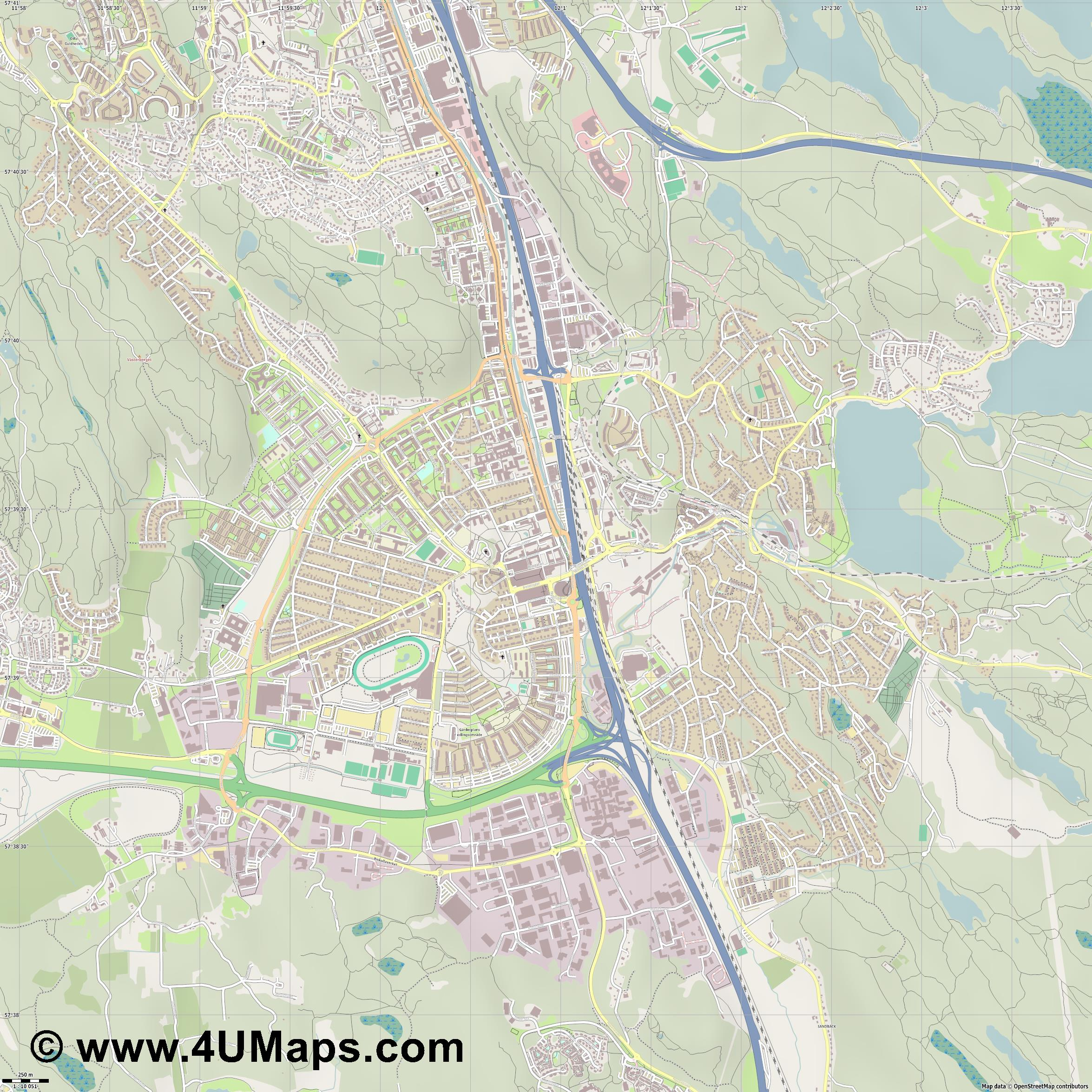 Mölndal  jpg ultra high detail preview vector city map