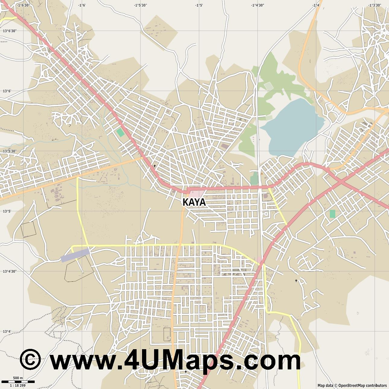 Kaya  jpg ultra high detail preview vector city map