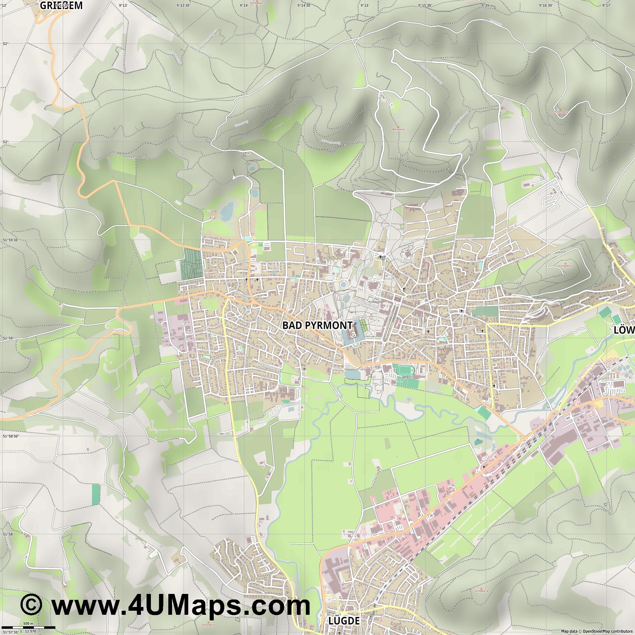 Bad Pyrmont Stadtplan