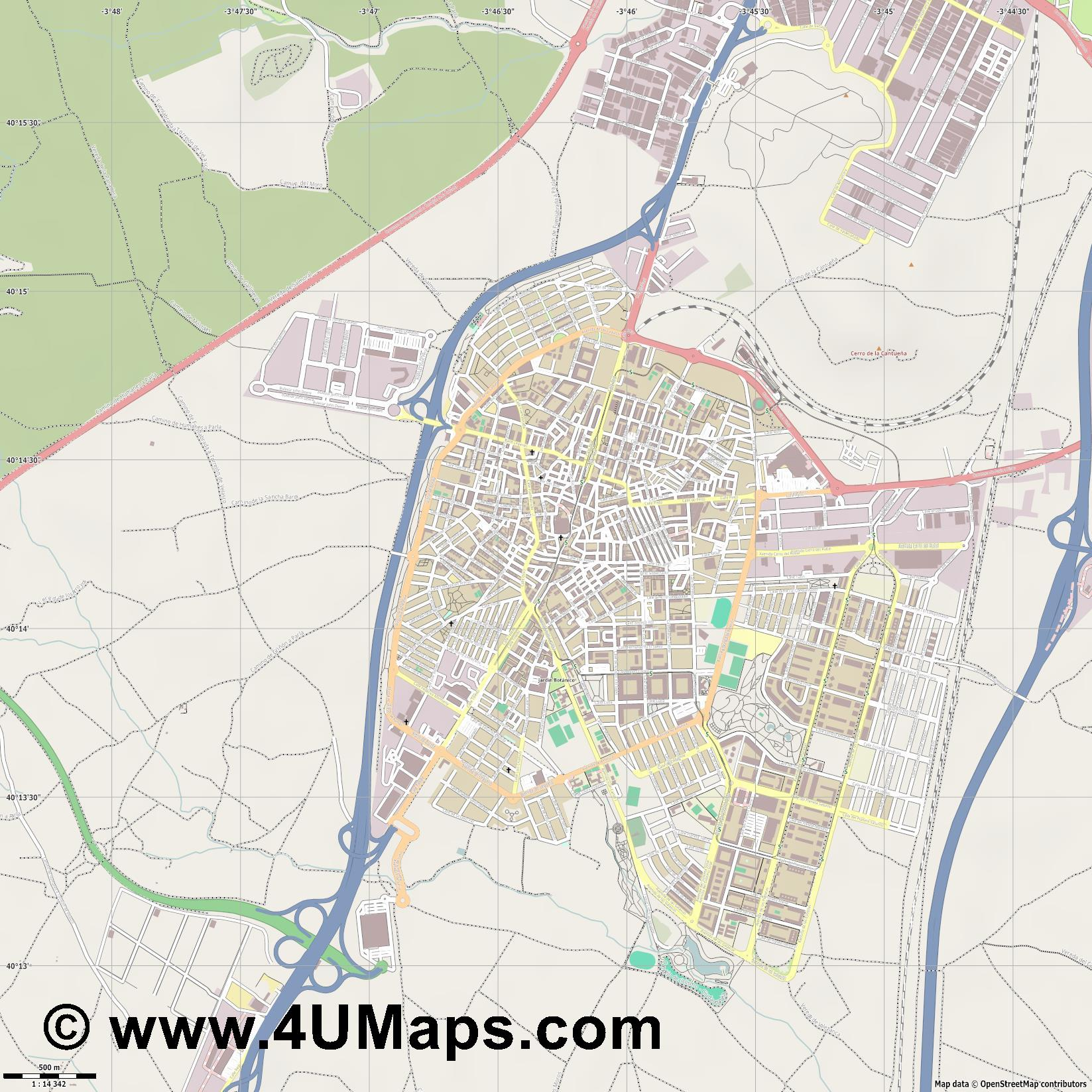 Parla  jpg ultra high detail preview vector city map
