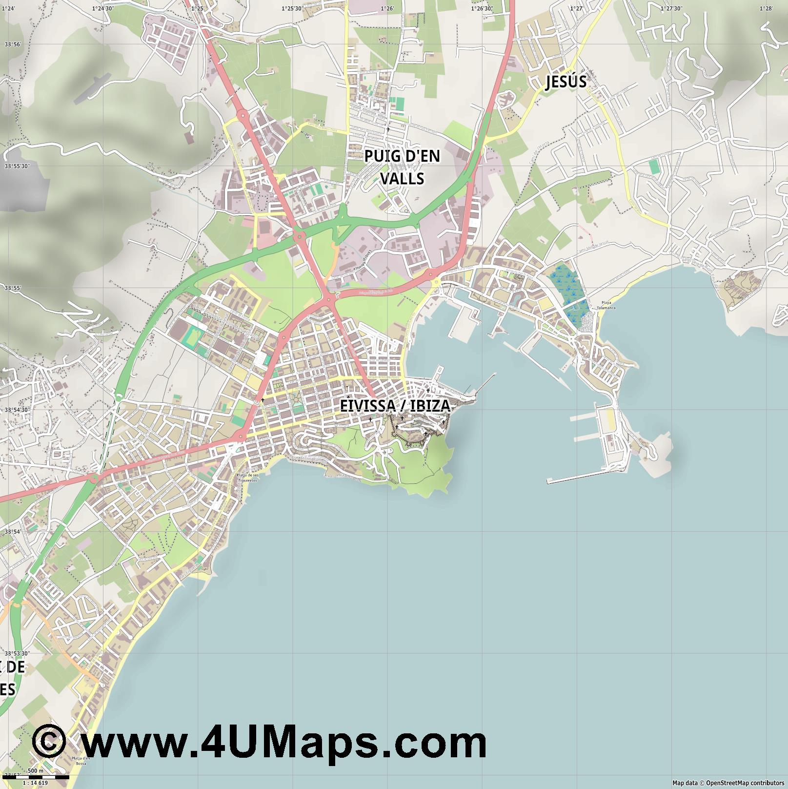 Map pdf ibiza
