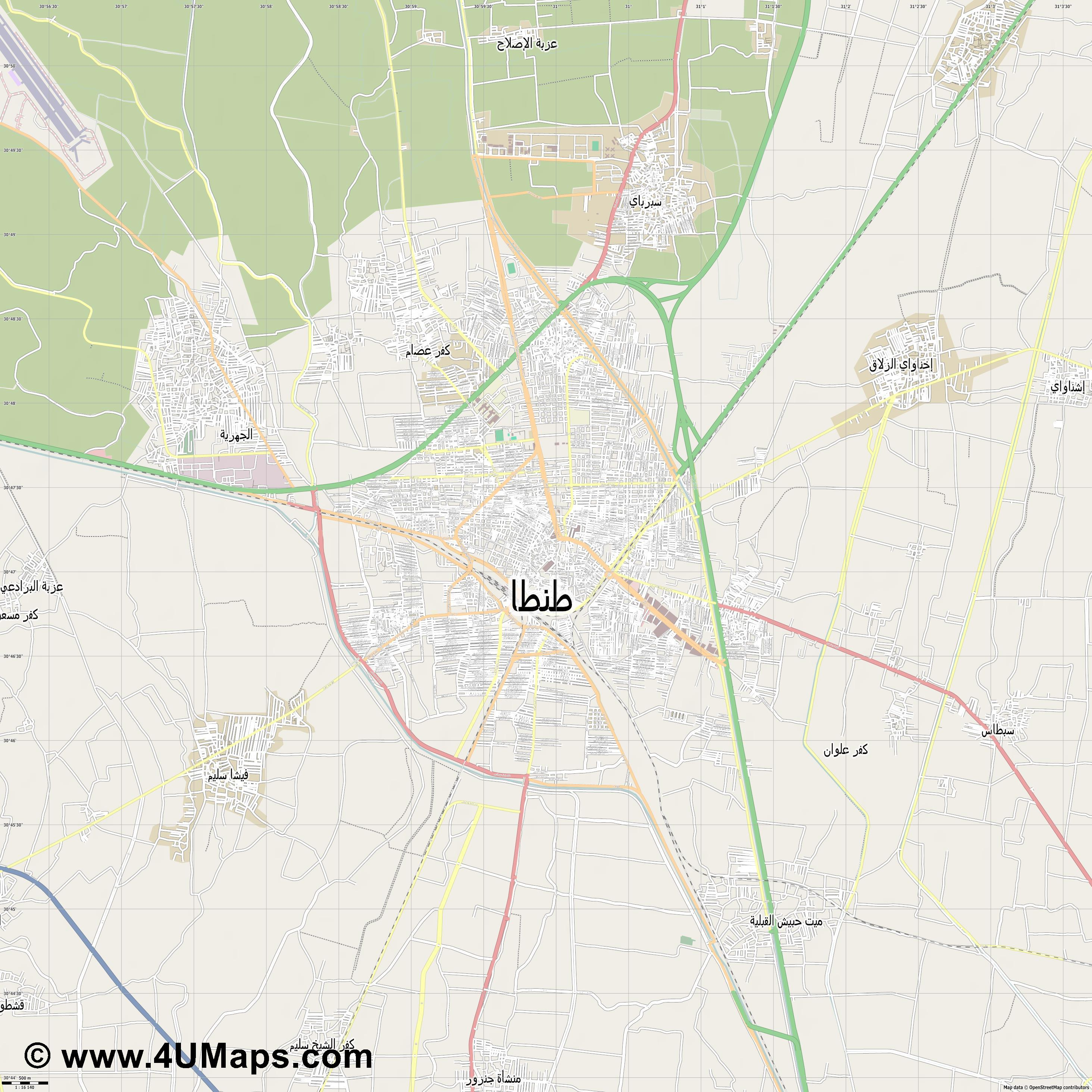 طنطا Tanta  jpg ultra high detail preview vector city map