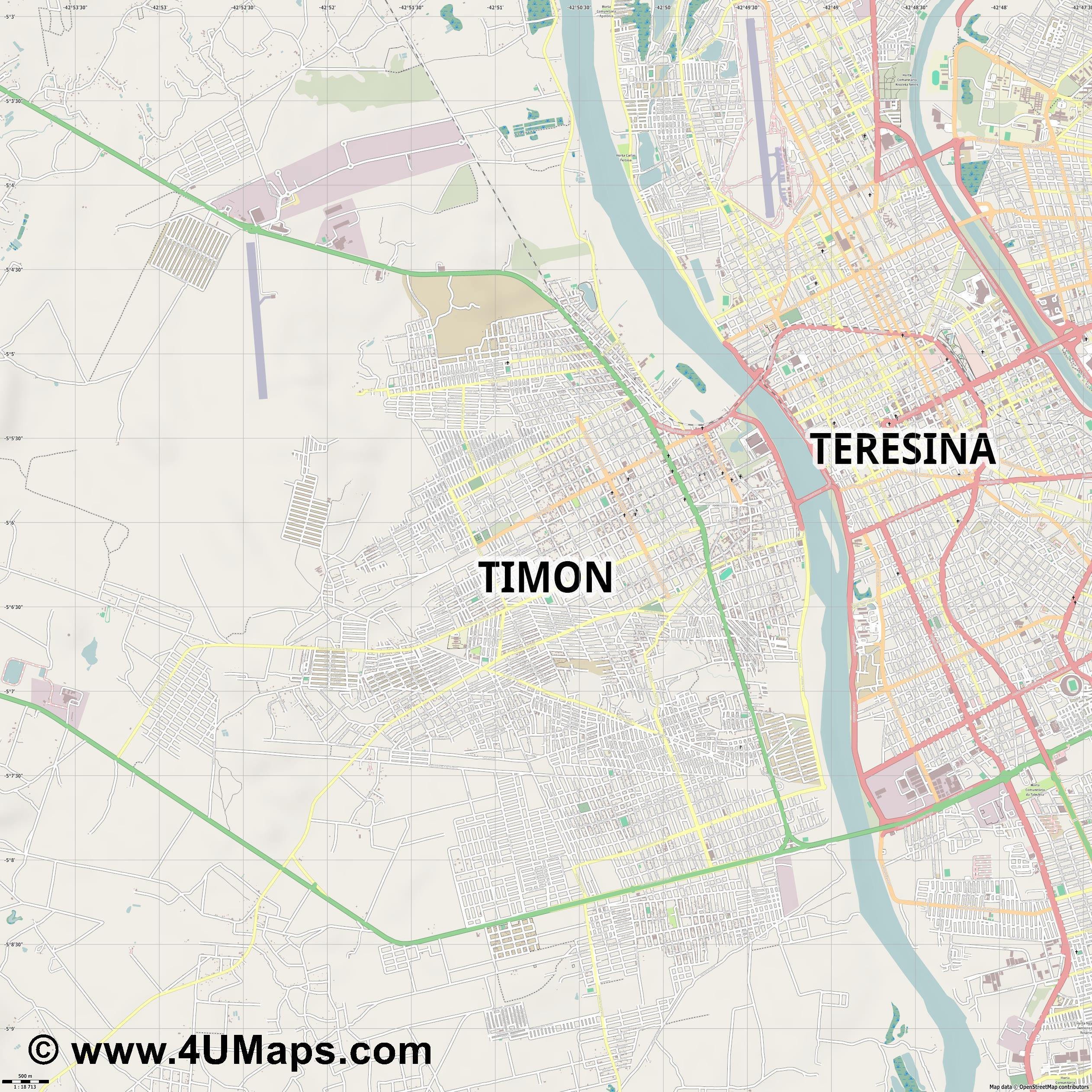 Timon  jpg ultra high detail preview vector city map