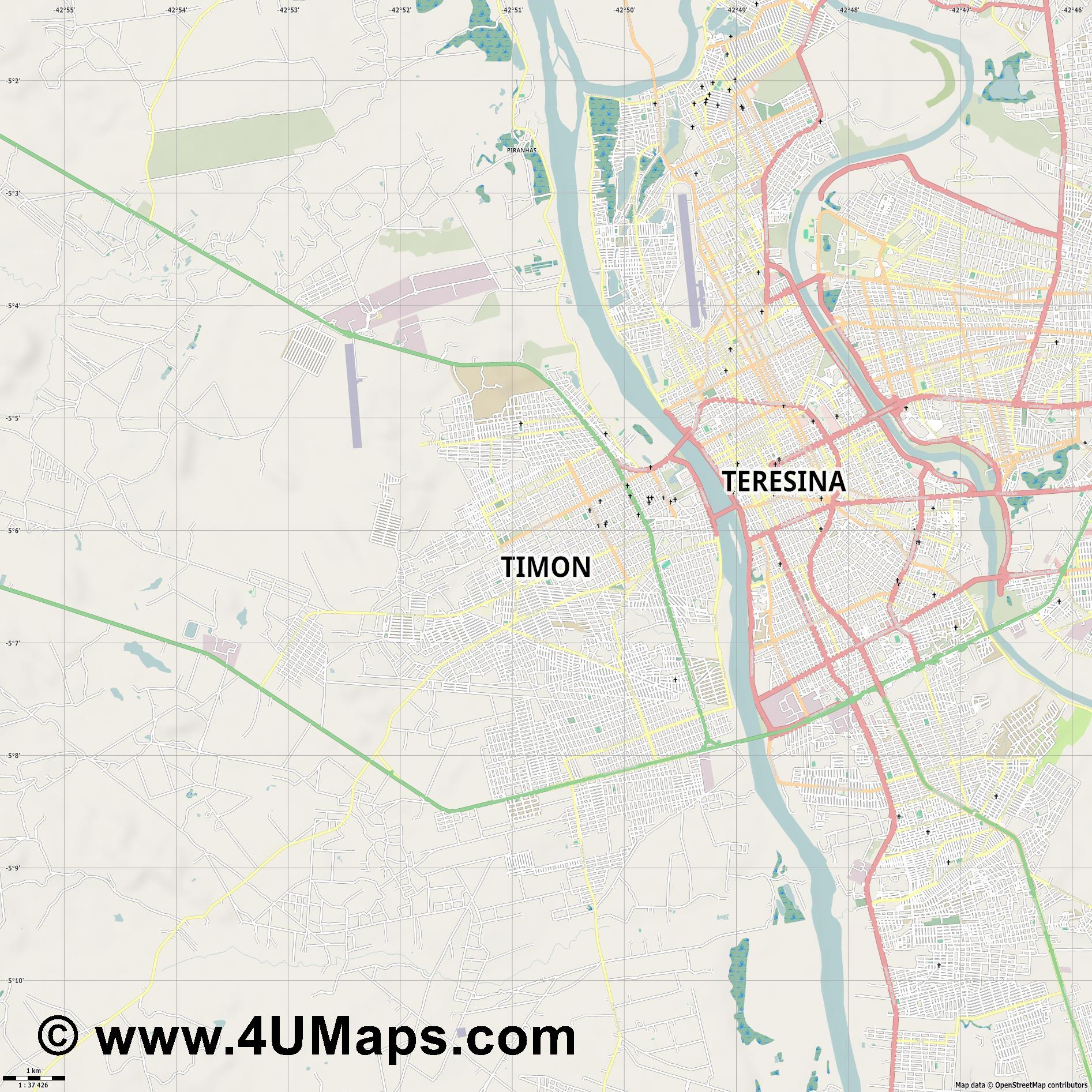 Timon  jpg high detail, large area preview vector city map
